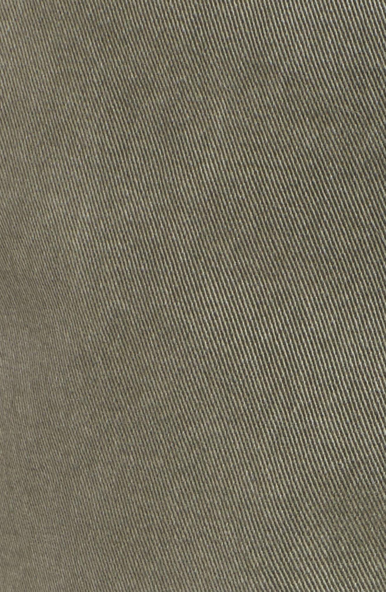 Uniform Stripe Step Hem Pants,                             Alternate thumbnail 6, color,                             MILITIA