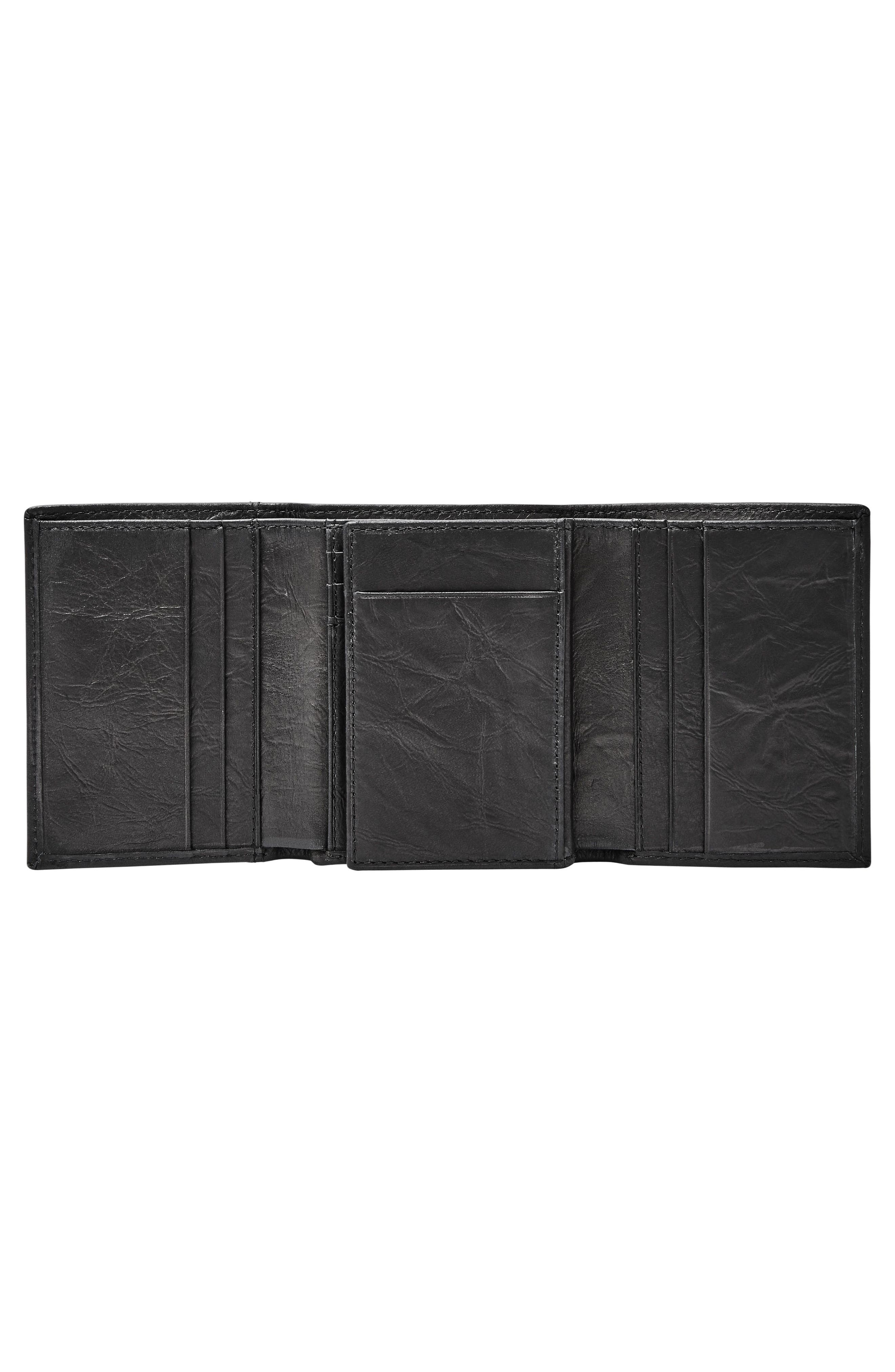 Neel Leather Wallet,                             Alternate thumbnail 2, color,                             BLACK