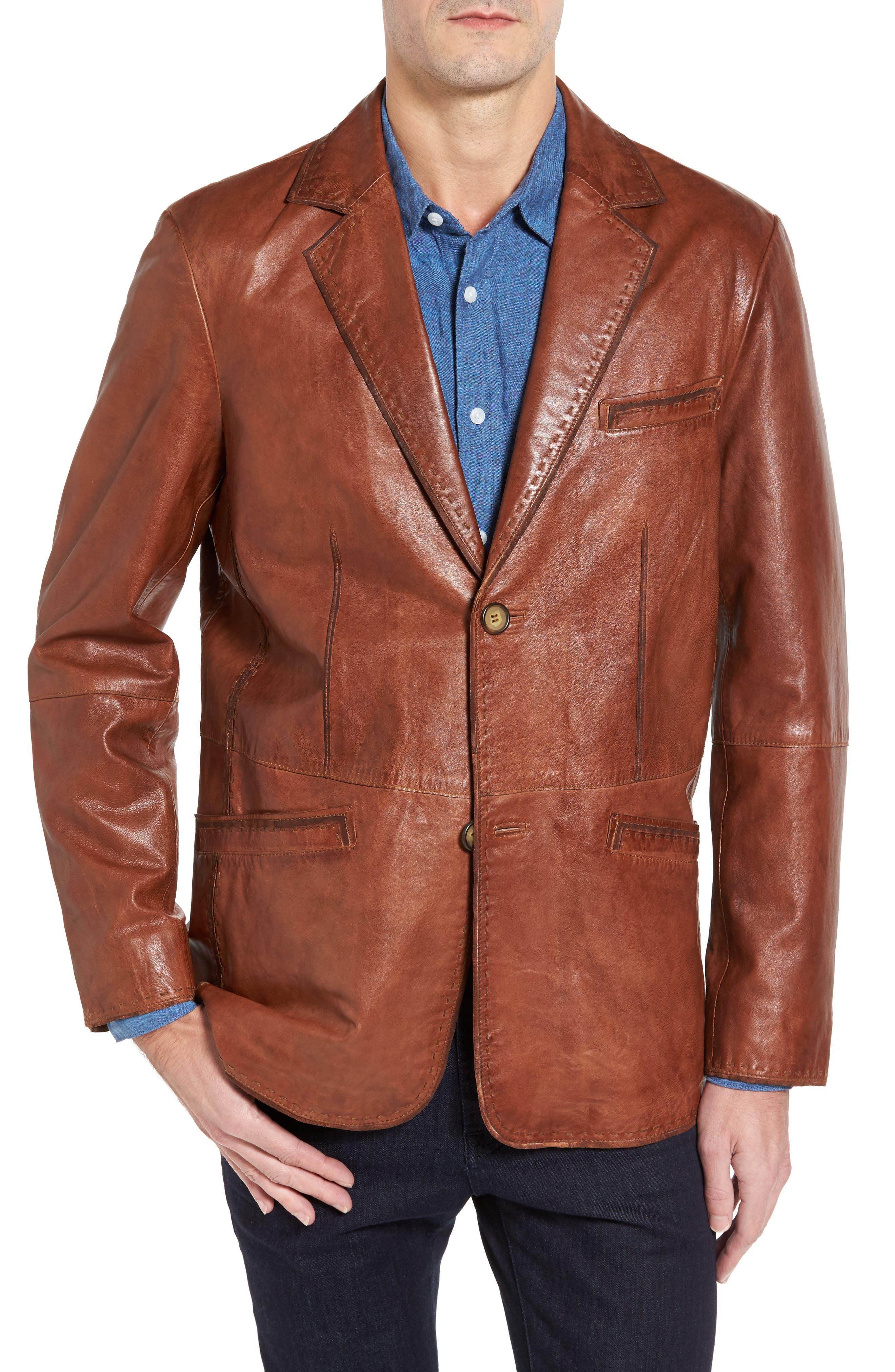 Lamb Leather Blazer,                             Main thumbnail 1, color,                             210
