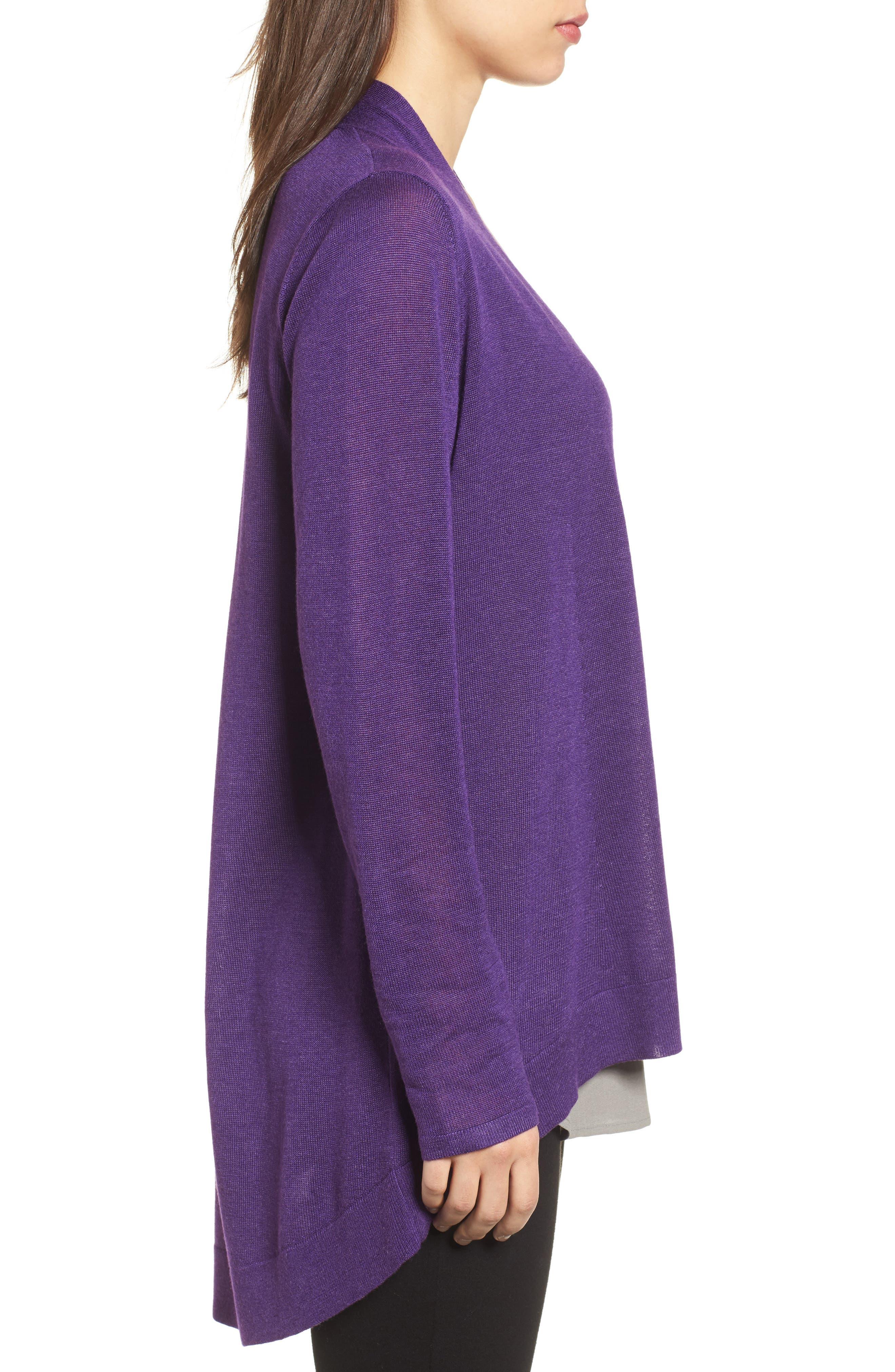 Tencel<sup>®</sup> Lyocell & Merino Wool Shaped Cardigan,                             Alternate thumbnail 14, color,