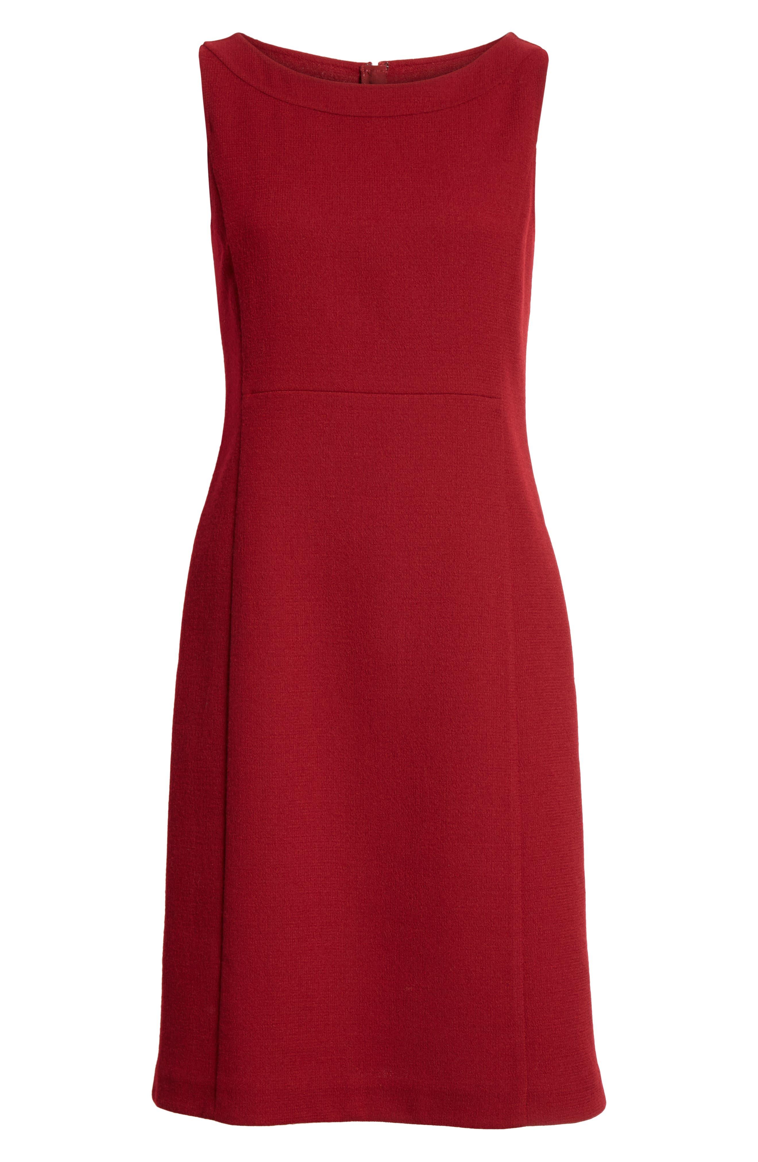 Paxton Sheath Dress,                             Alternate thumbnail 7, color,                             SCARLET
