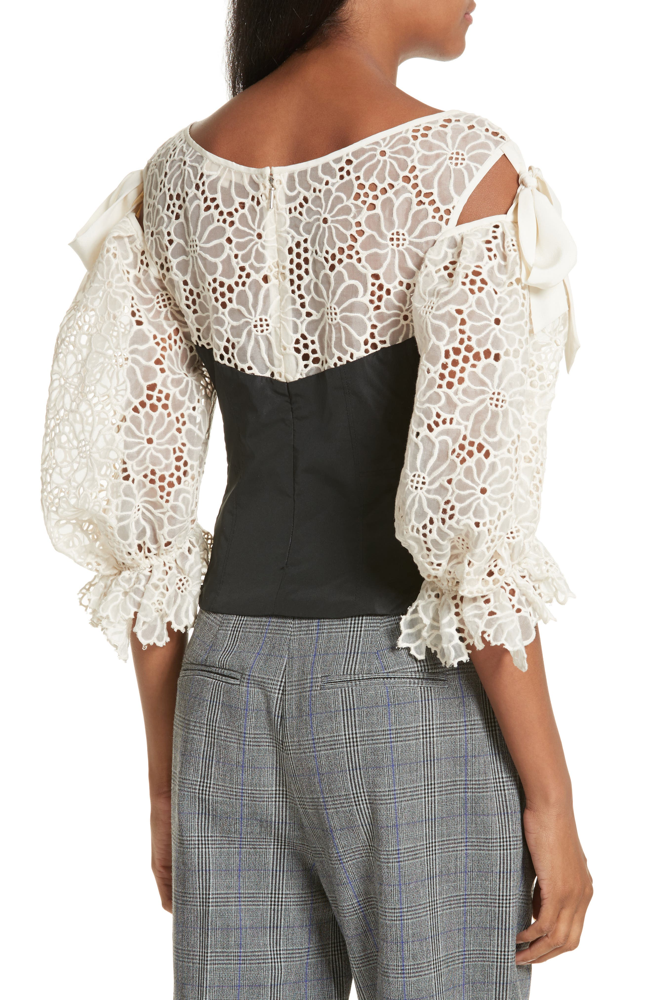 Malorie Embroidered Eyelet Top,                             Alternate thumbnail 2, color,                             114
