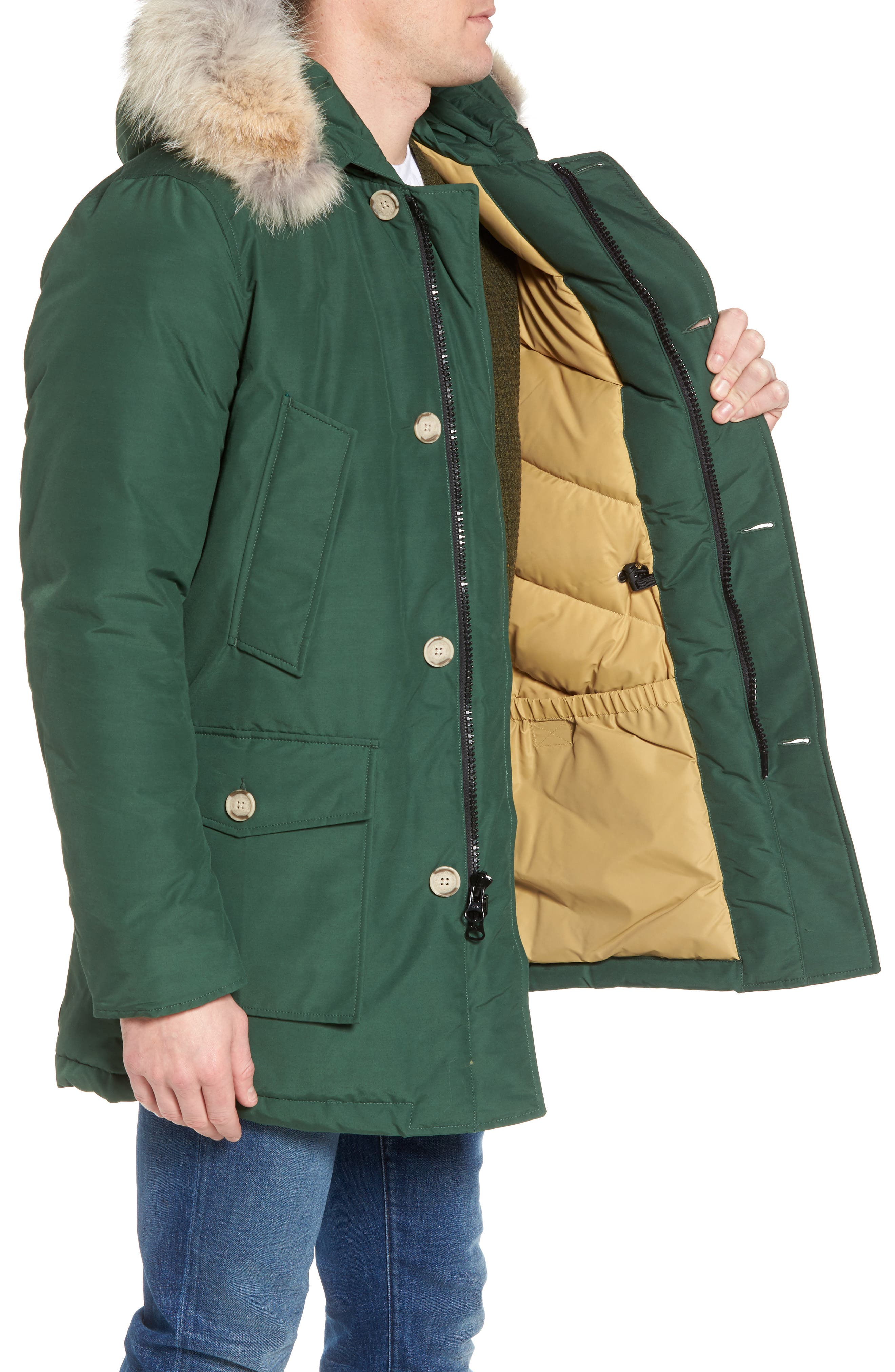 John Rich & Bros. Arctic Parka with Genuine Coyote Fur Trim,                             Alternate thumbnail 15, color,
