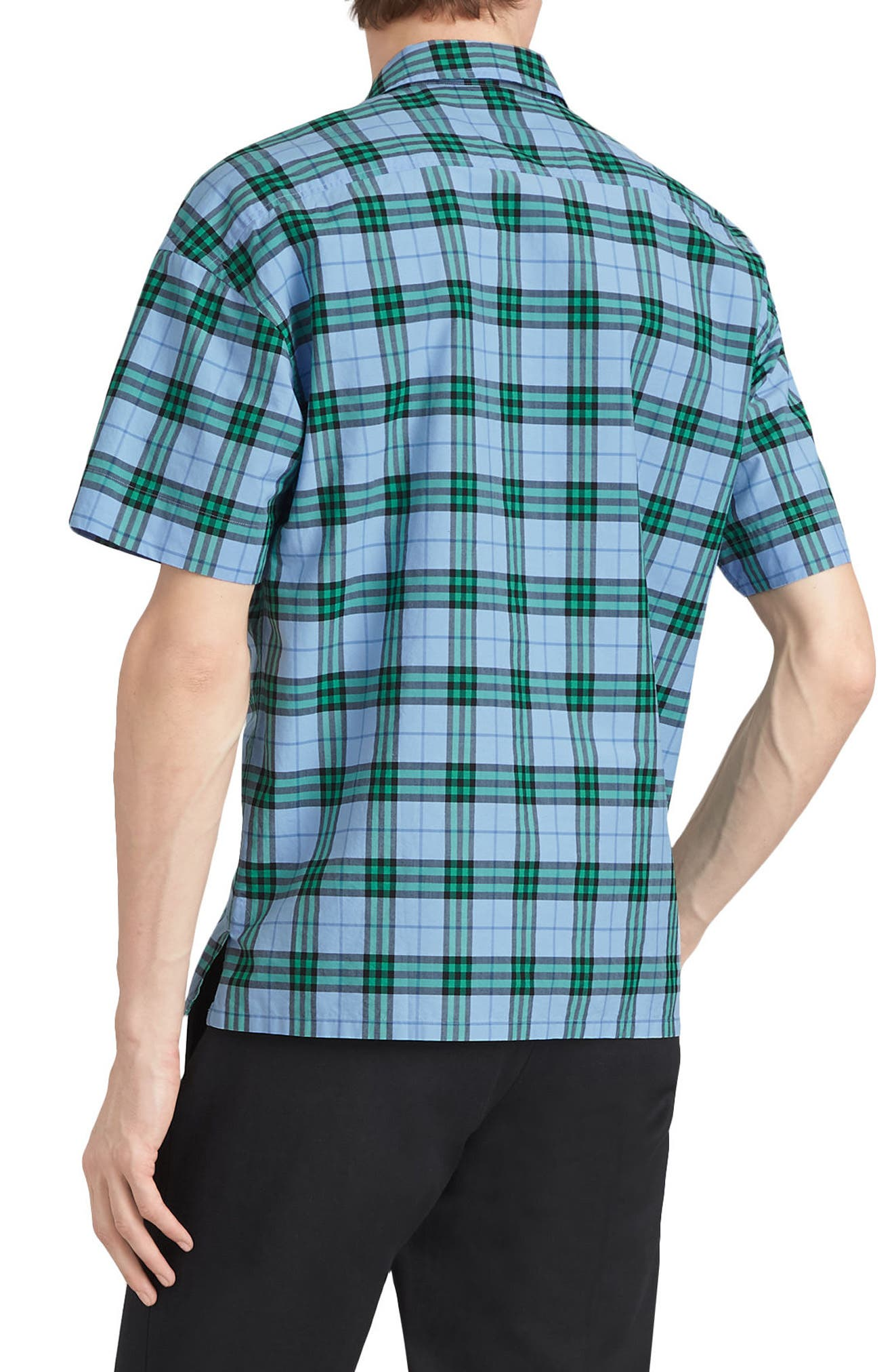 Harely Check Camp Shirt,                             Alternate thumbnail 3, color,                             400