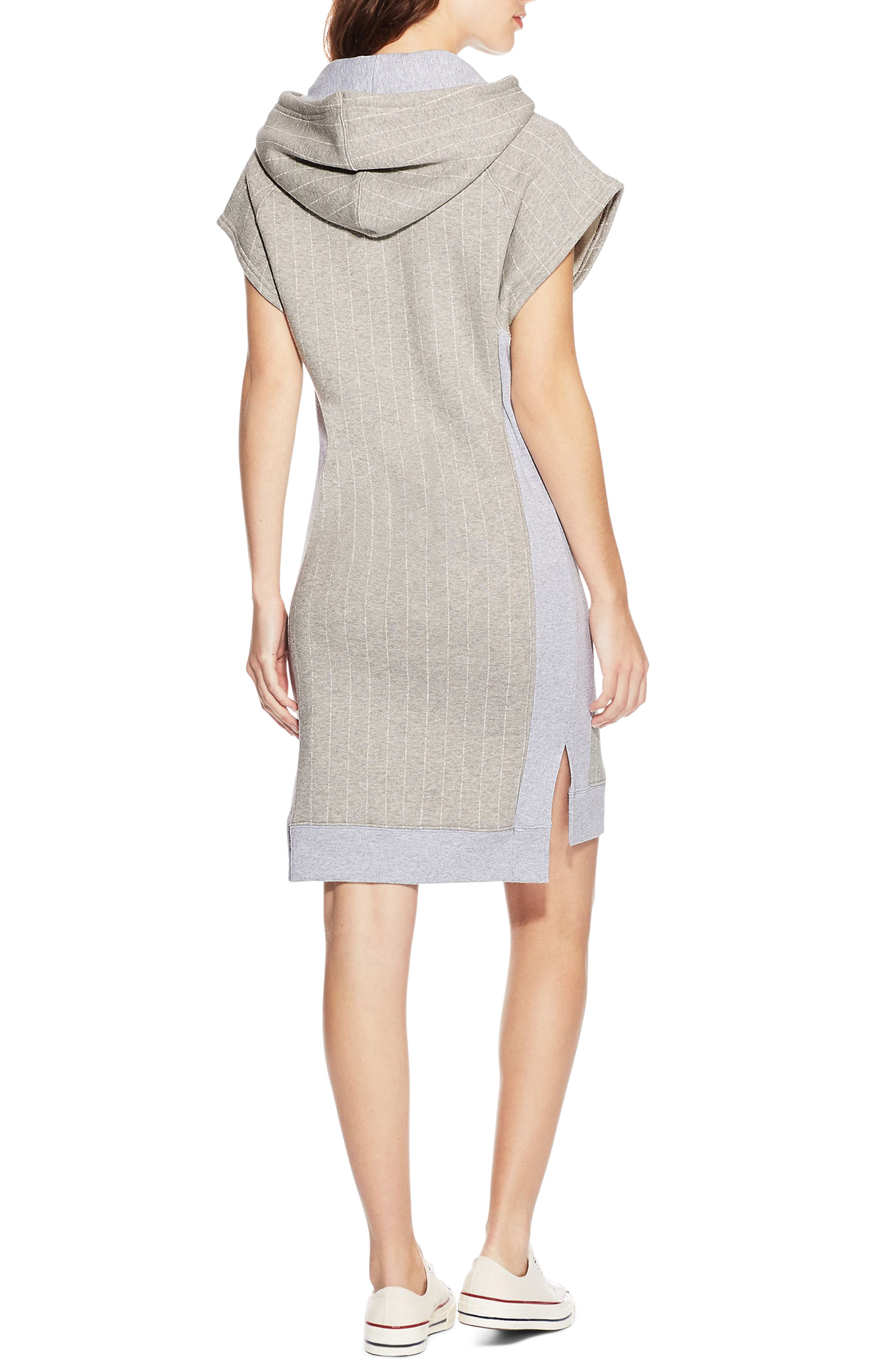 Reverse Weave<sup>®</sup> Hooded T-Shirt Dress,                             Alternate thumbnail 2, color,                             032