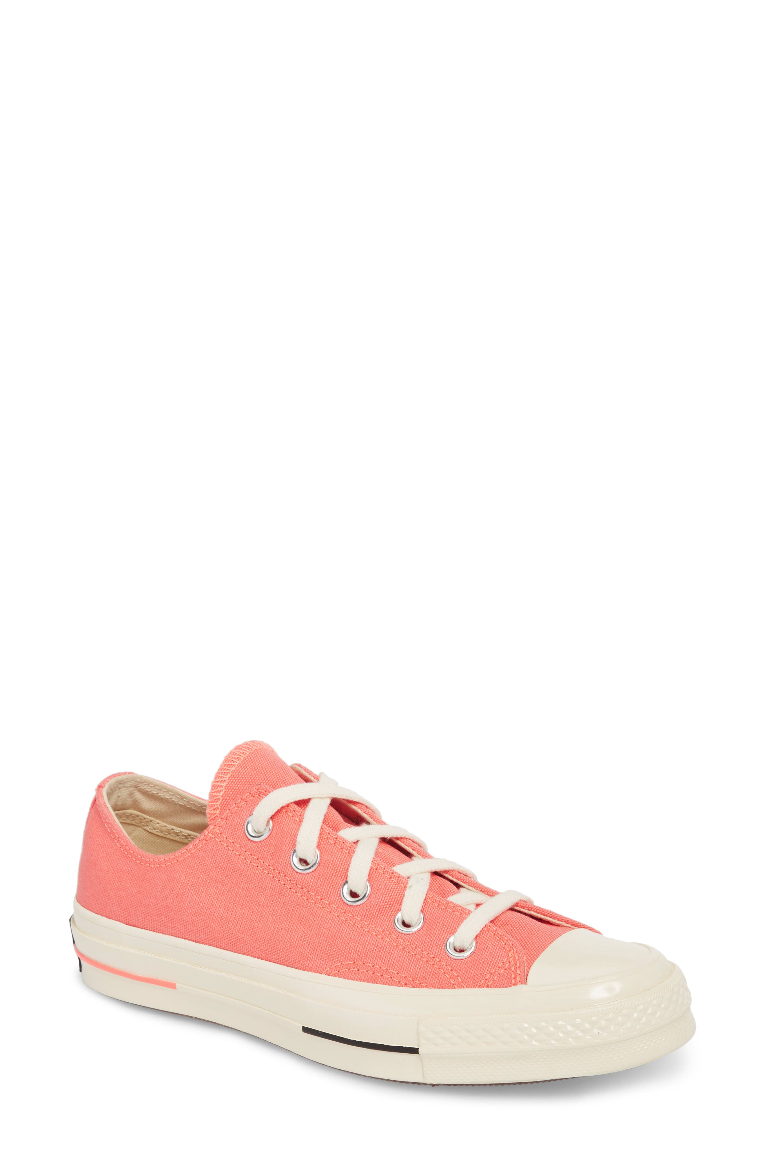 Chuck Taylor<sup>®</sup> All Star<sup>®</sup> '70s Brights Low Top Sneaker,                             Main thumbnail 1, color,                             CRIMSON PULSE