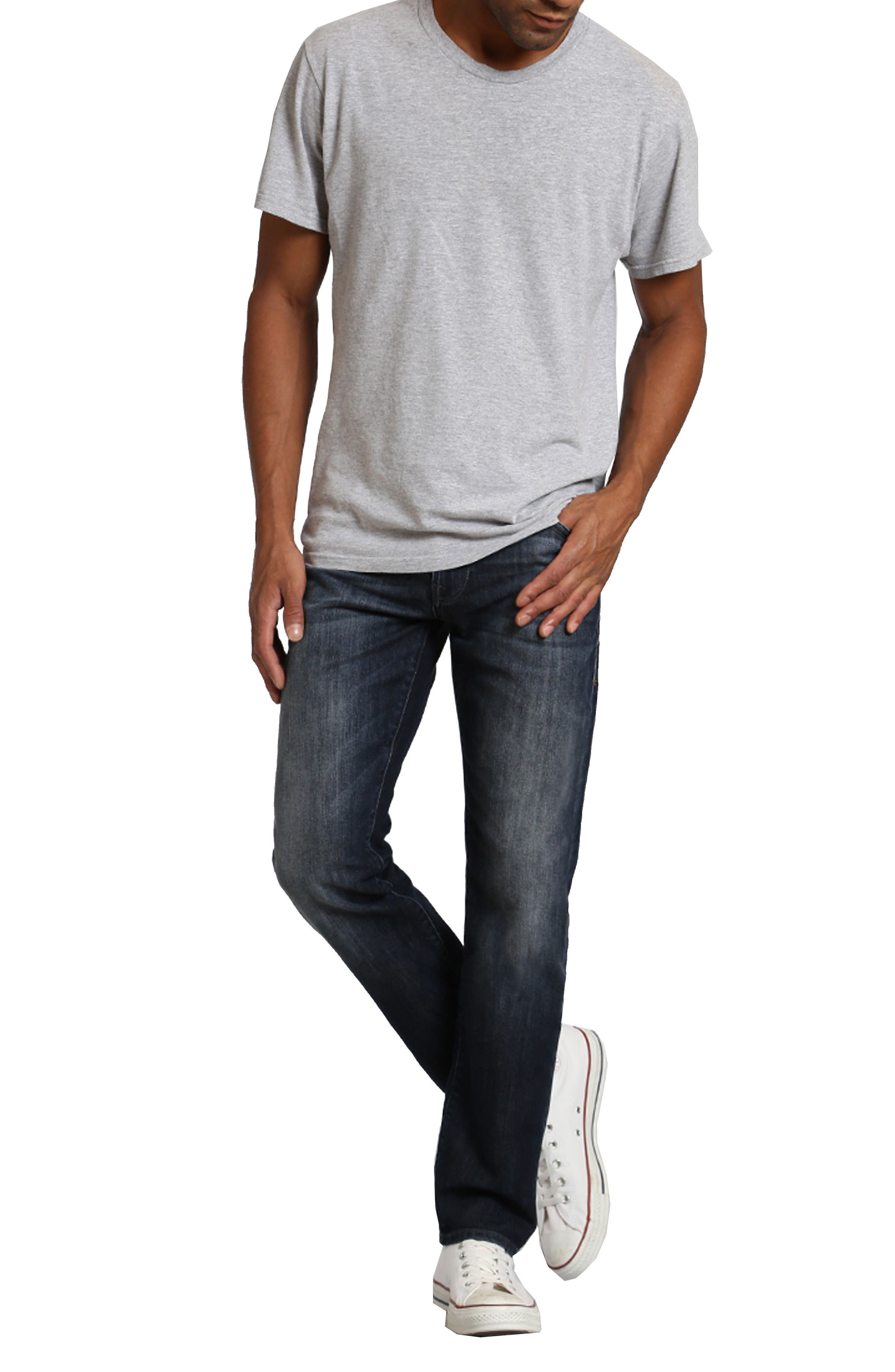 Zach Straight Leg Jeans,                             Alternate thumbnail 3, color,                             DEEP SHADED NEW YORK
