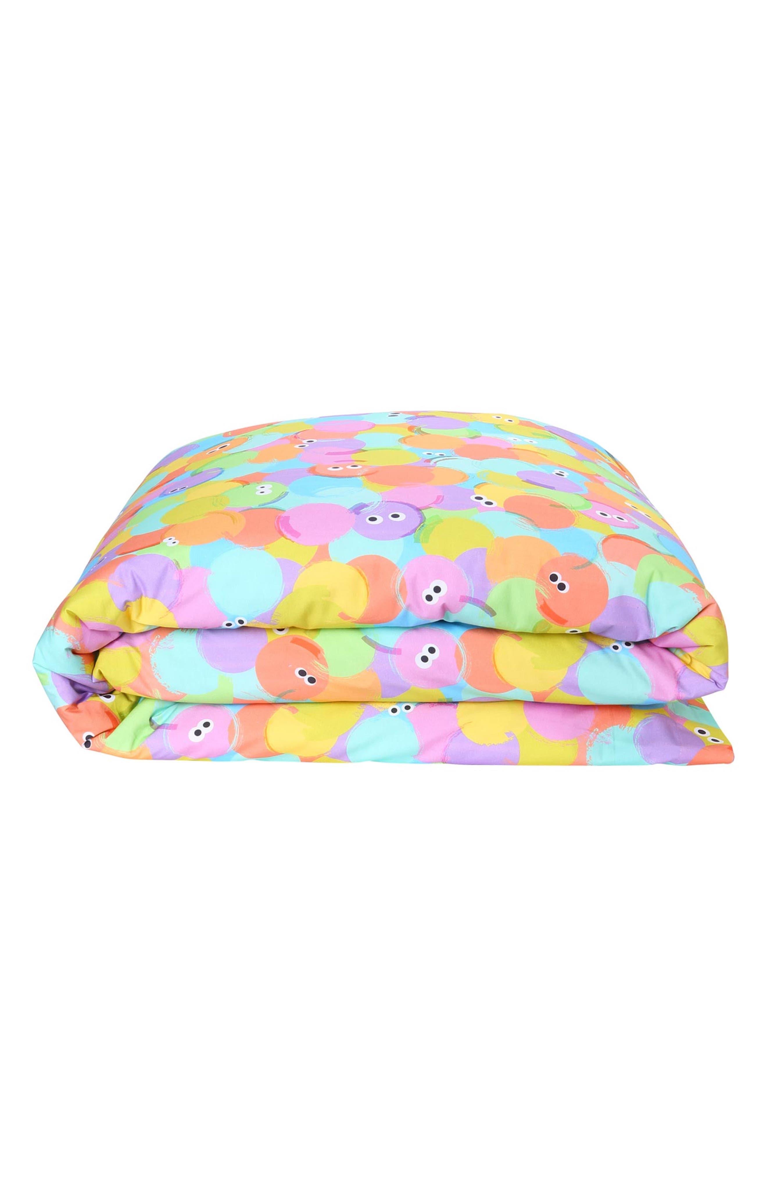 Hello World Cotton Duvet Cover,                         Main,                         color, MULTI