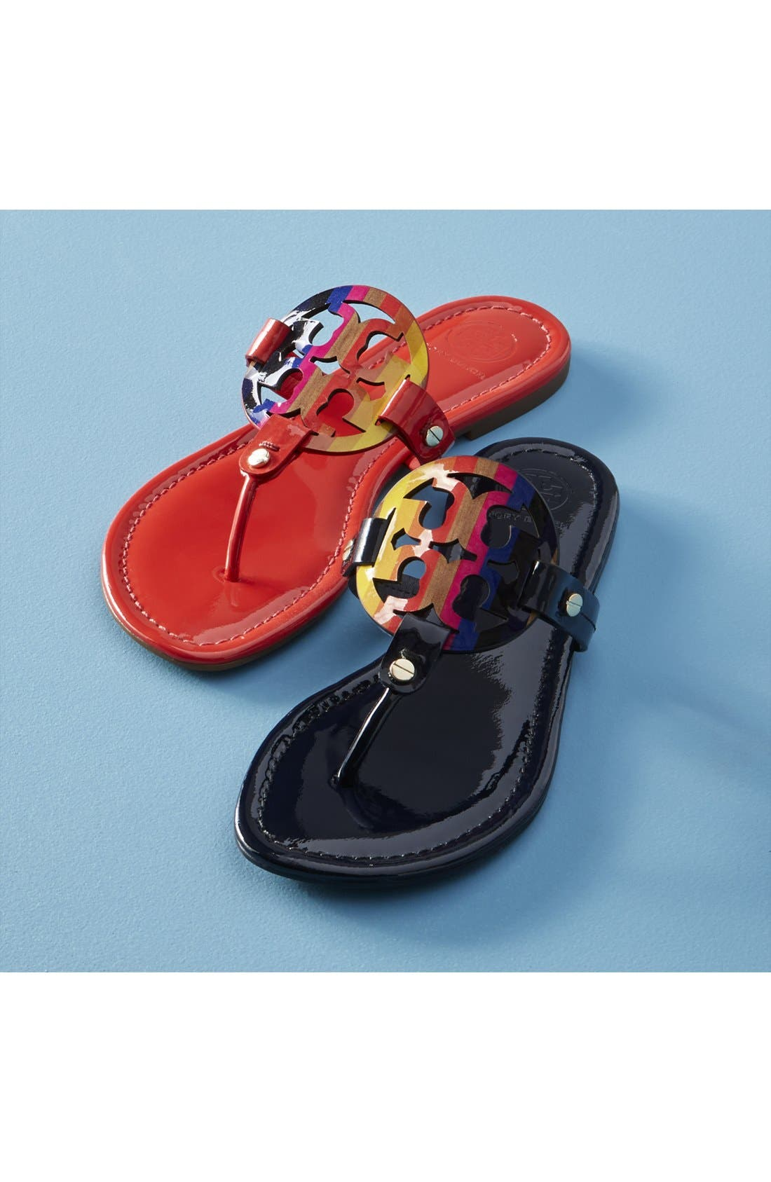 'Miller' Flip Flop,                             Alternate thumbnail 7, color,                             BLACK PATENT
