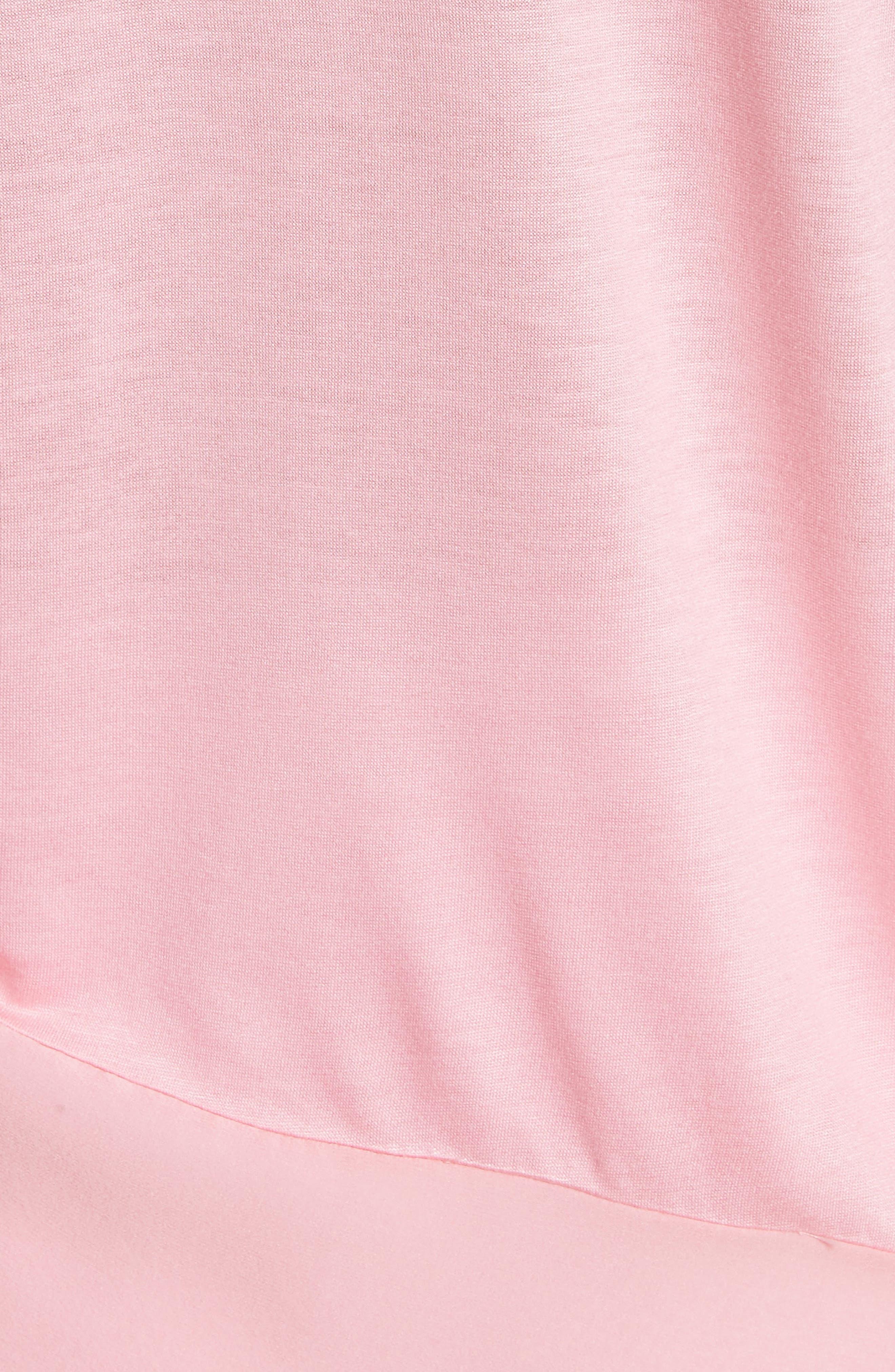 Silk Georgette & Jersey Asymmetrical Blouse,                             Alternate thumbnail 5, color,                             660