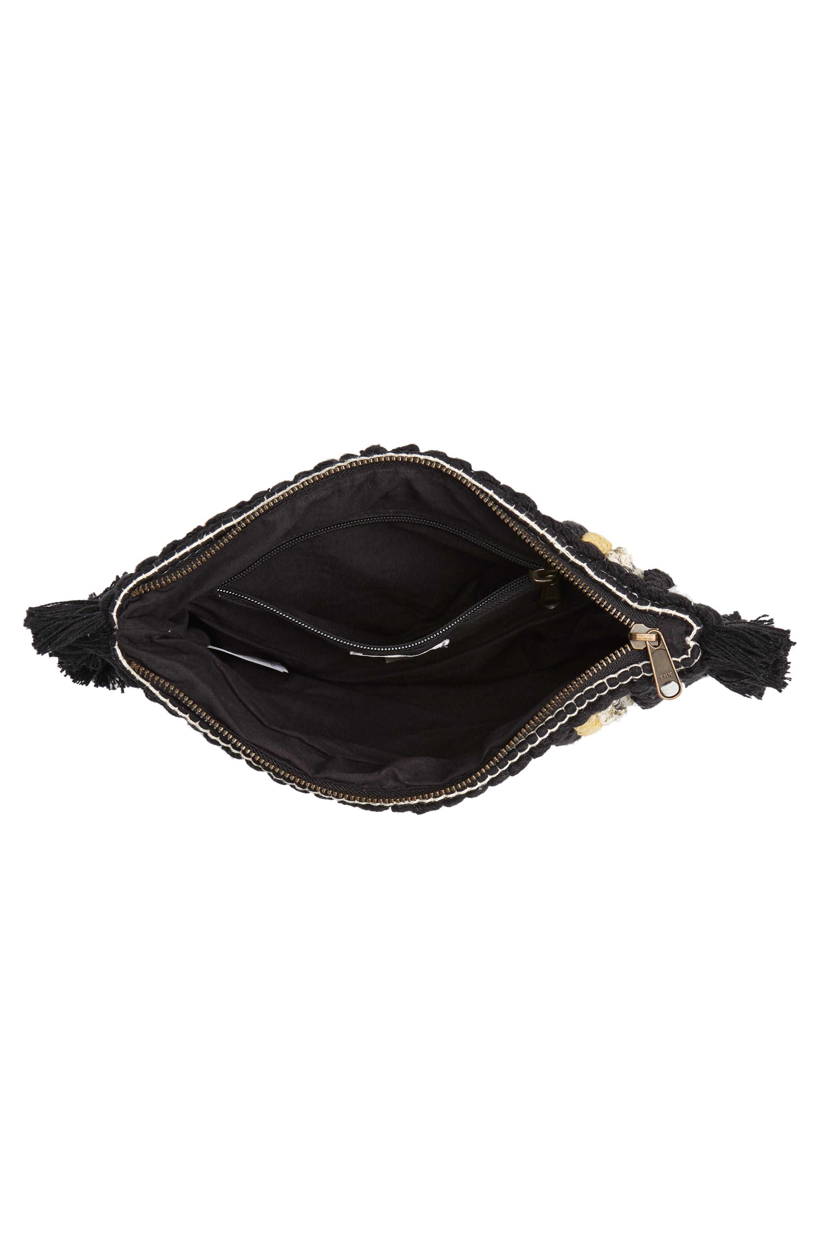 Rayas Clutch,                             Alternate thumbnail 4, color,                             BLACK
