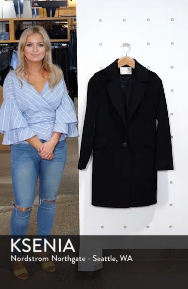 Notch Collar Wool Coat, sales video thumbnail