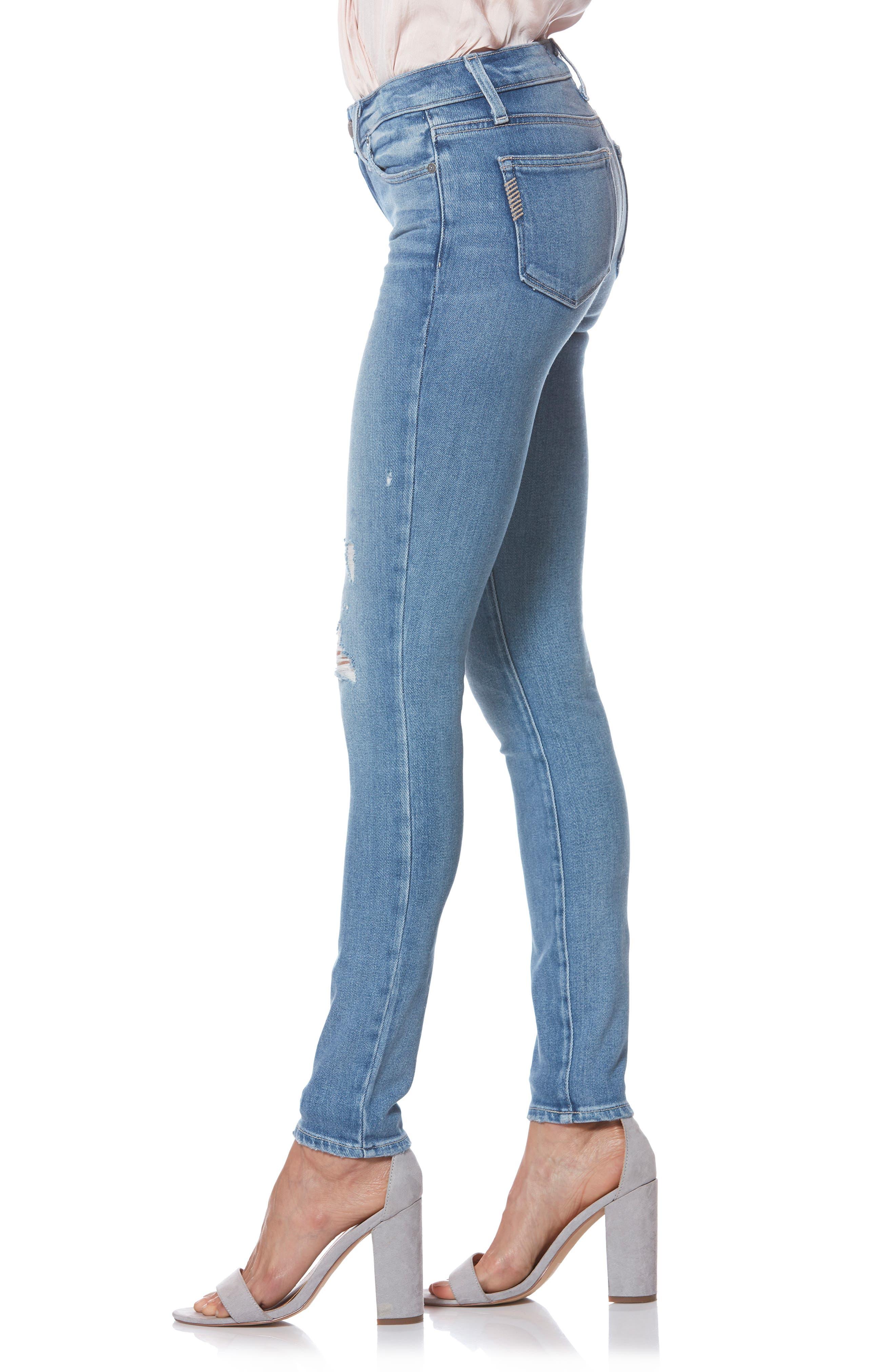 PAIGE,                             Verdugo Ultra Skinny Jeans,                             Alternate thumbnail 4, color,                             KAYSON DISTRESSED