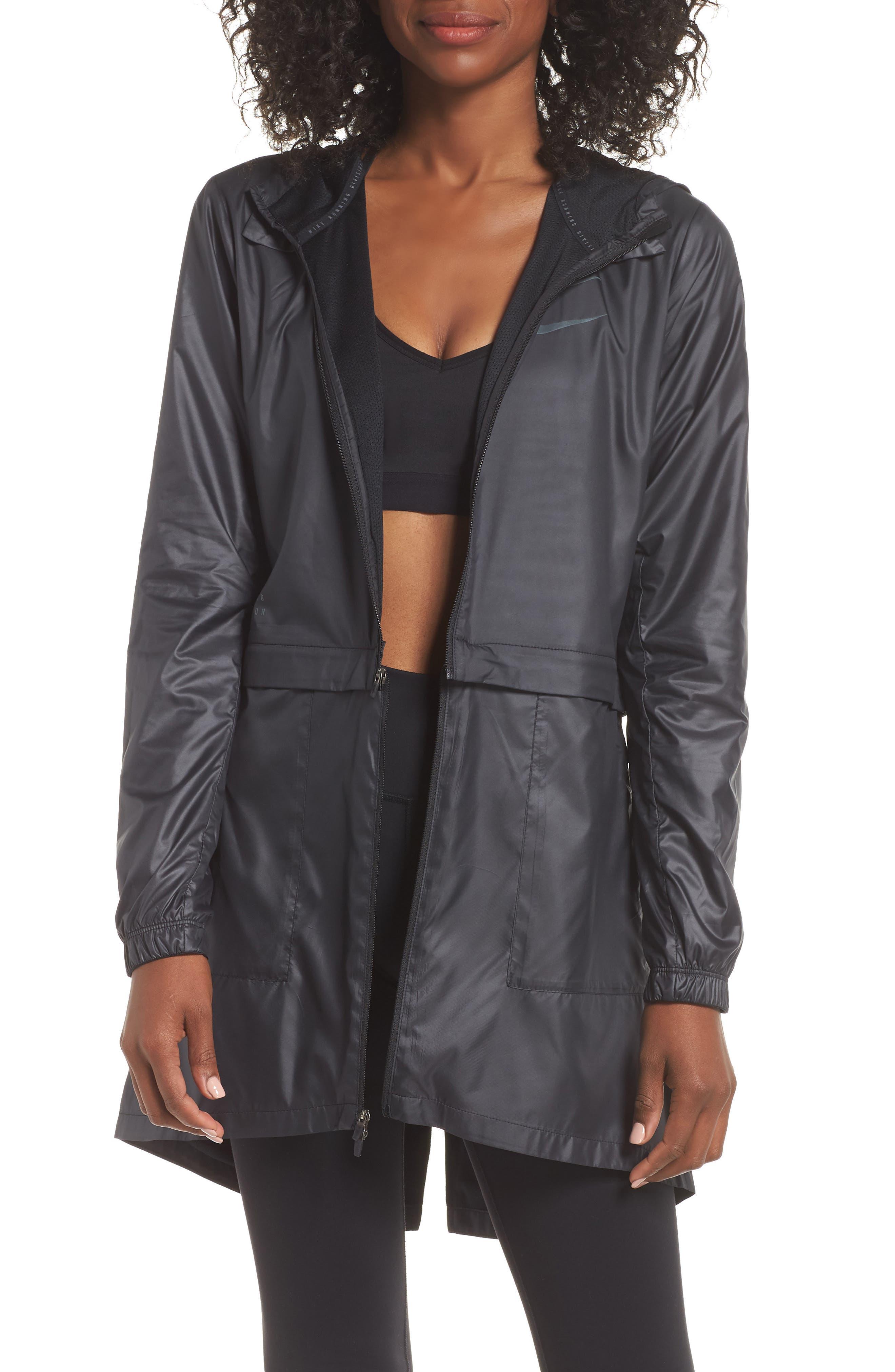 Women's Convertible Hooded Running Jacket,                             Main thumbnail 1, color,                             010