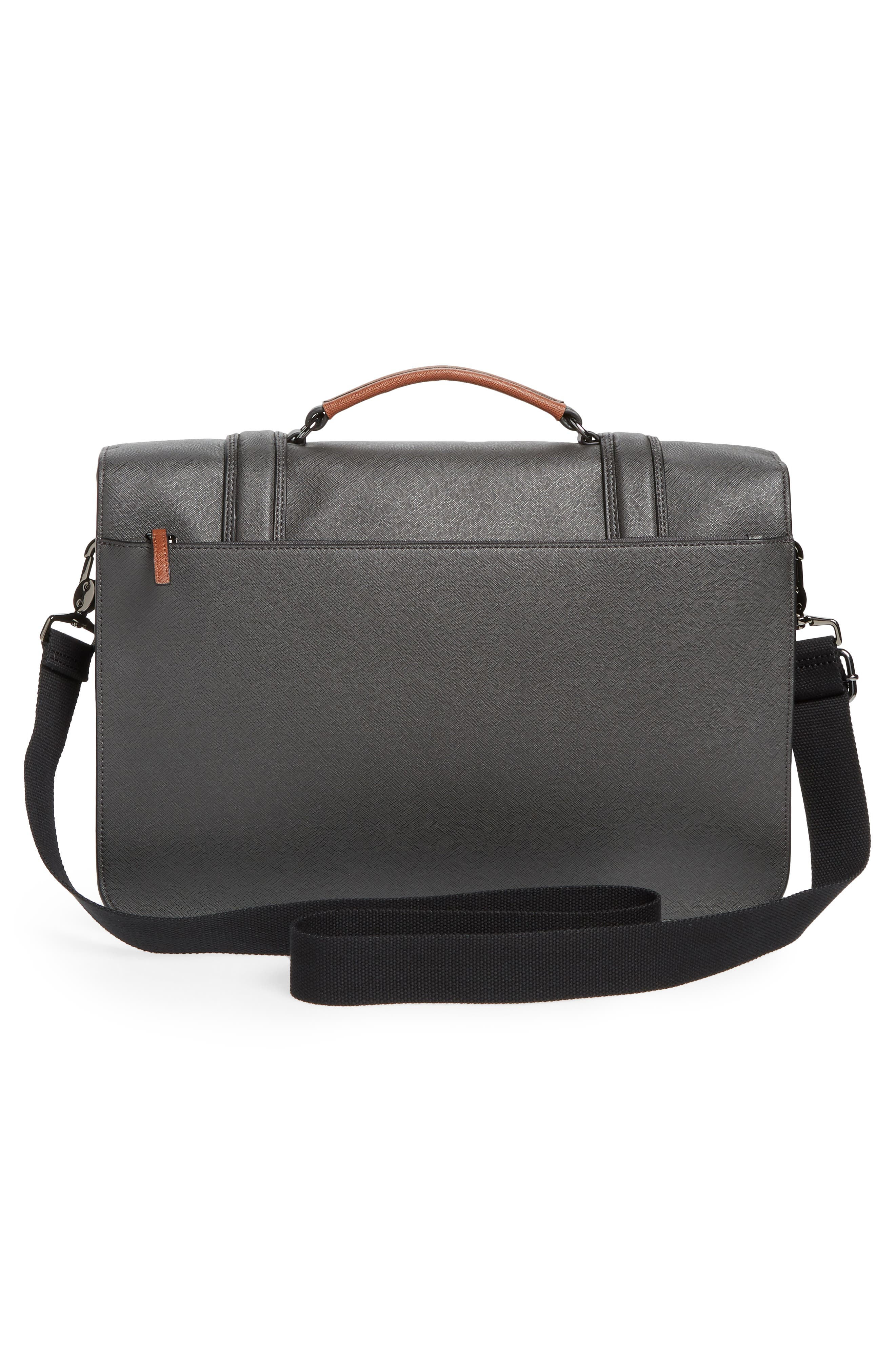Crossgrain Messenger Bag,                             Alternate thumbnail 3, color,                             CHARCOAL