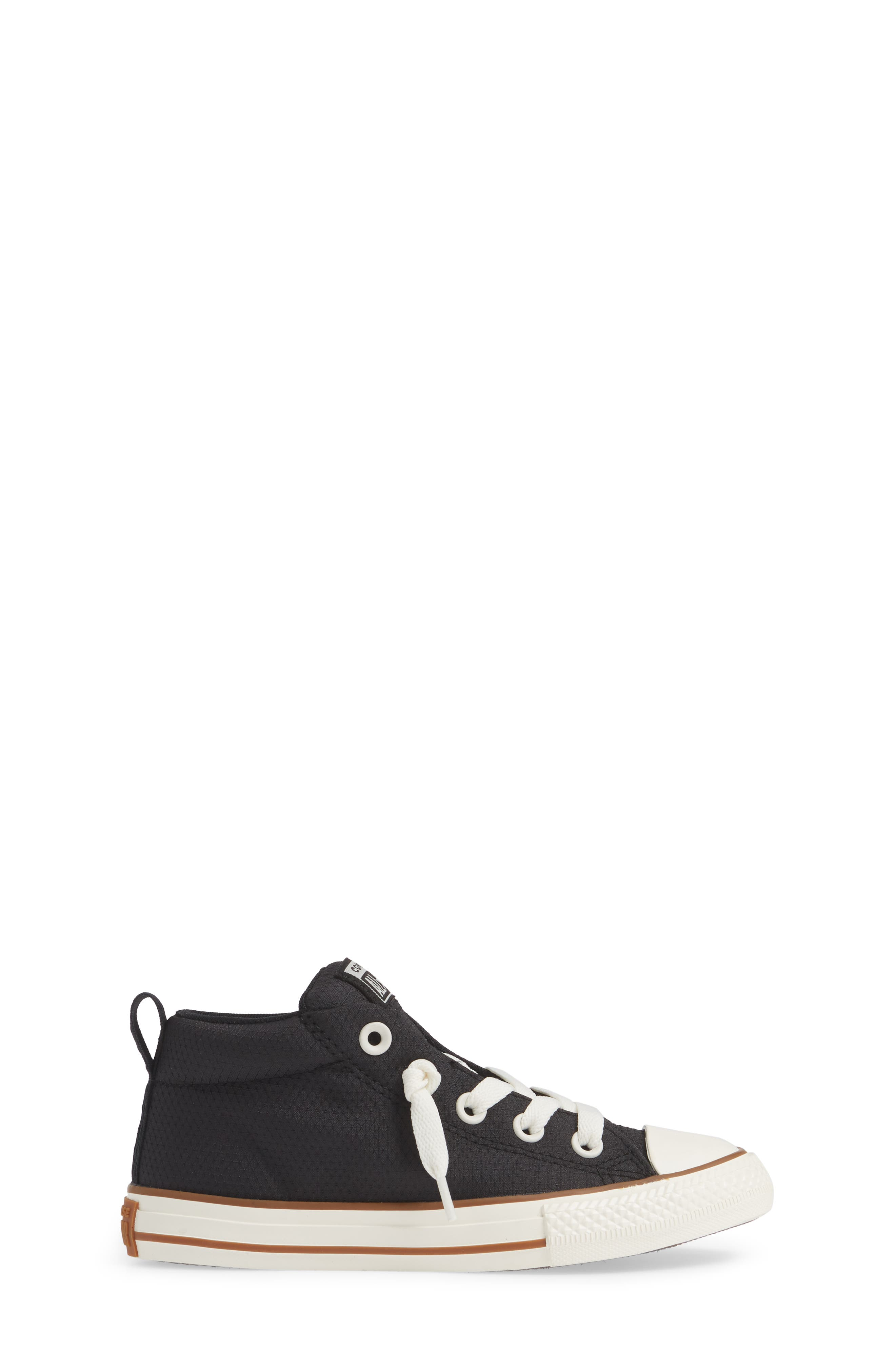 Chuck Taylor<sup>®</sup> All Star<sup>®</sup> Street Mid Top Sneaker,                             Alternate thumbnail 3, color,                             BLACK/ GUM/ EGRET