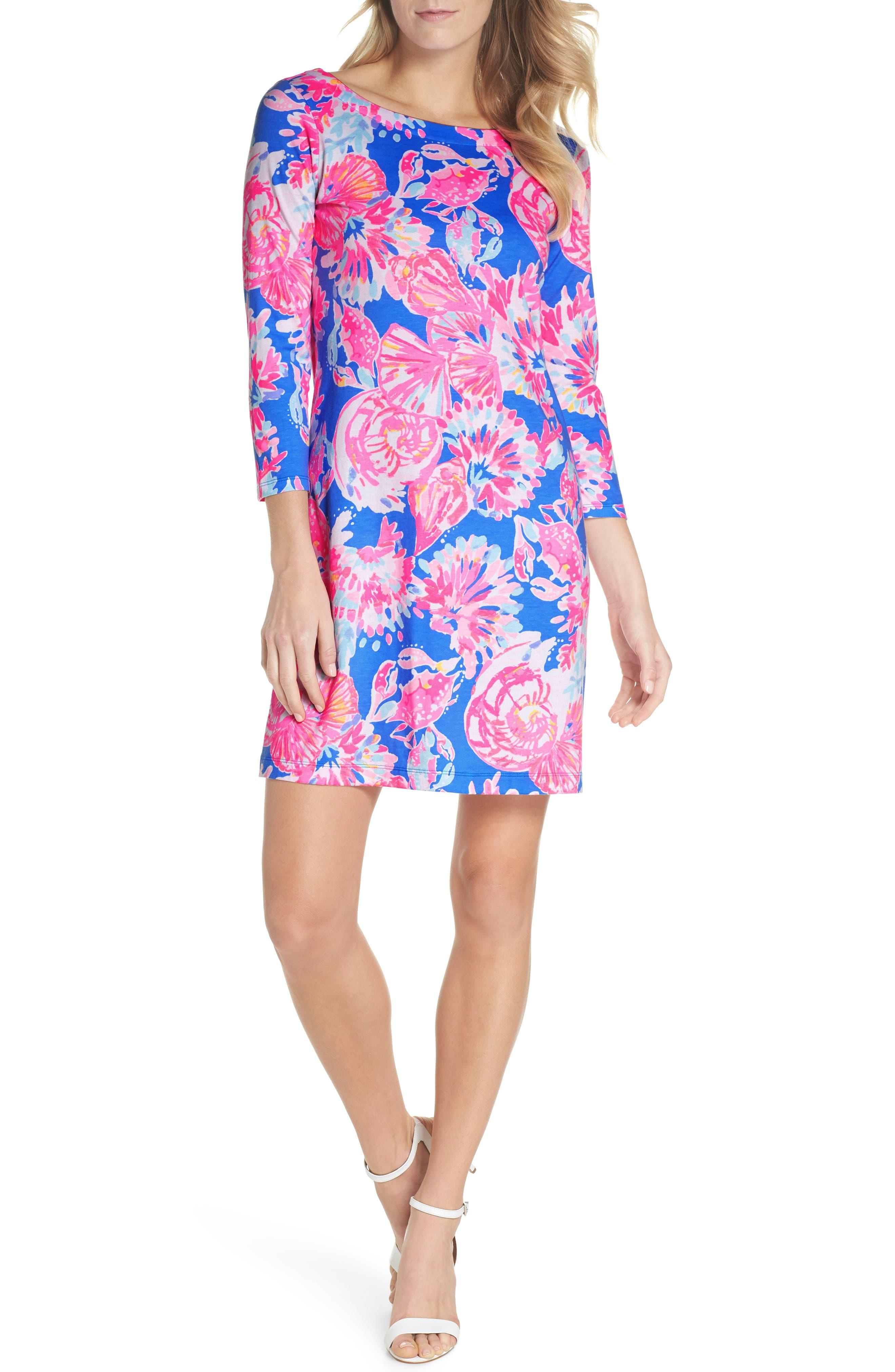Noelle Floral Shift Dress,                             Main thumbnail 1, color,                             650
