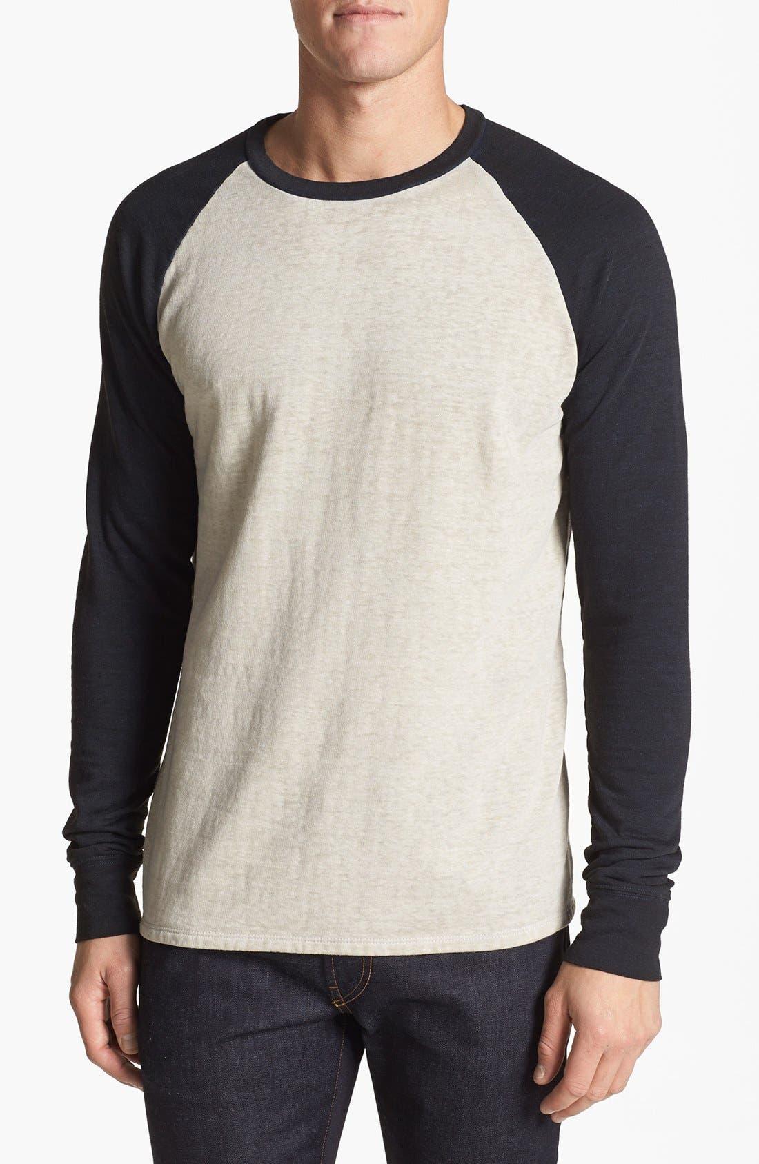 Washed Raglan Sleeve Sweatshirt,                             Main thumbnail 8, color,