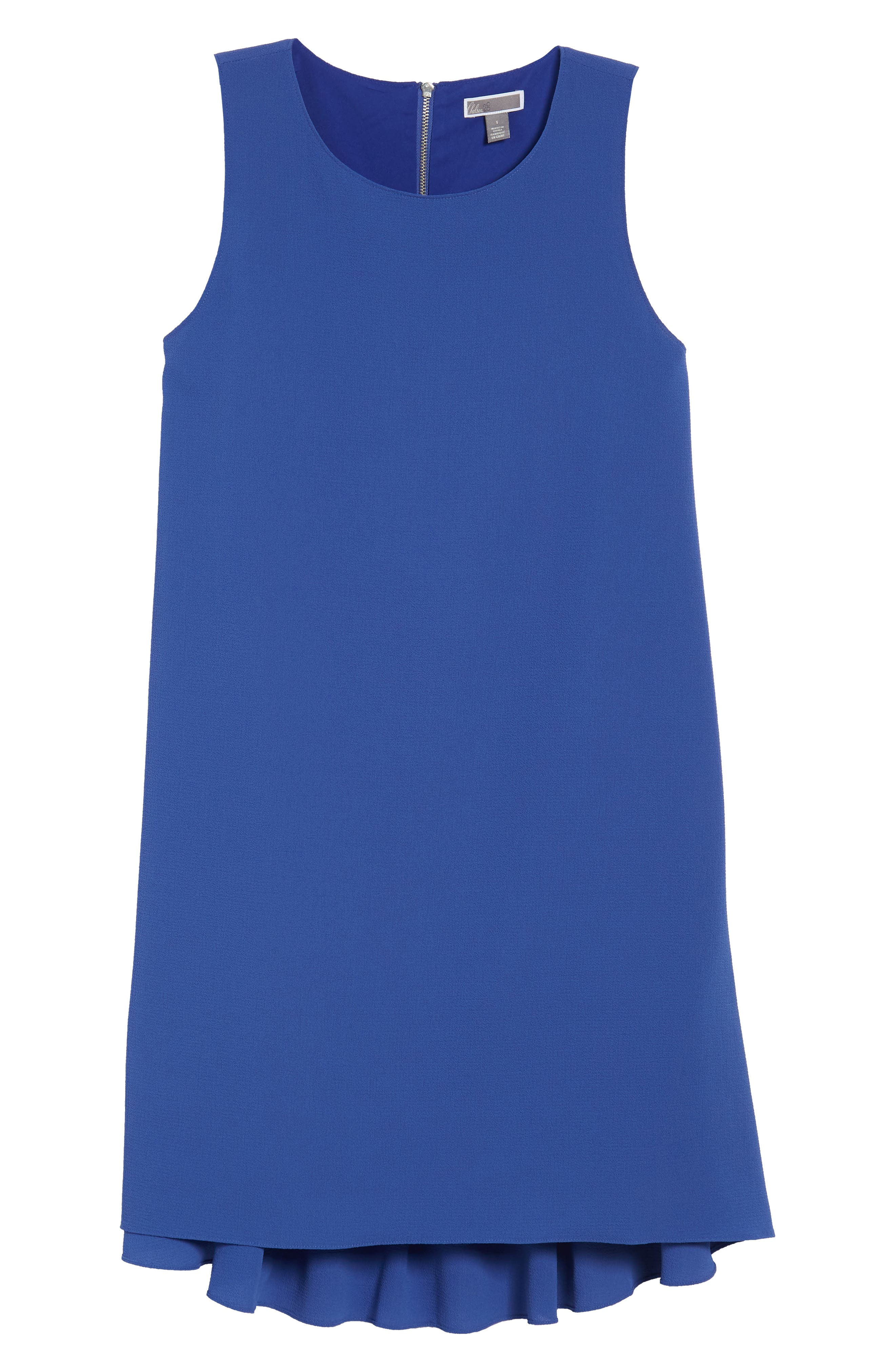 Zipper Back Ruffle Dress,                             Alternate thumbnail 18, color,