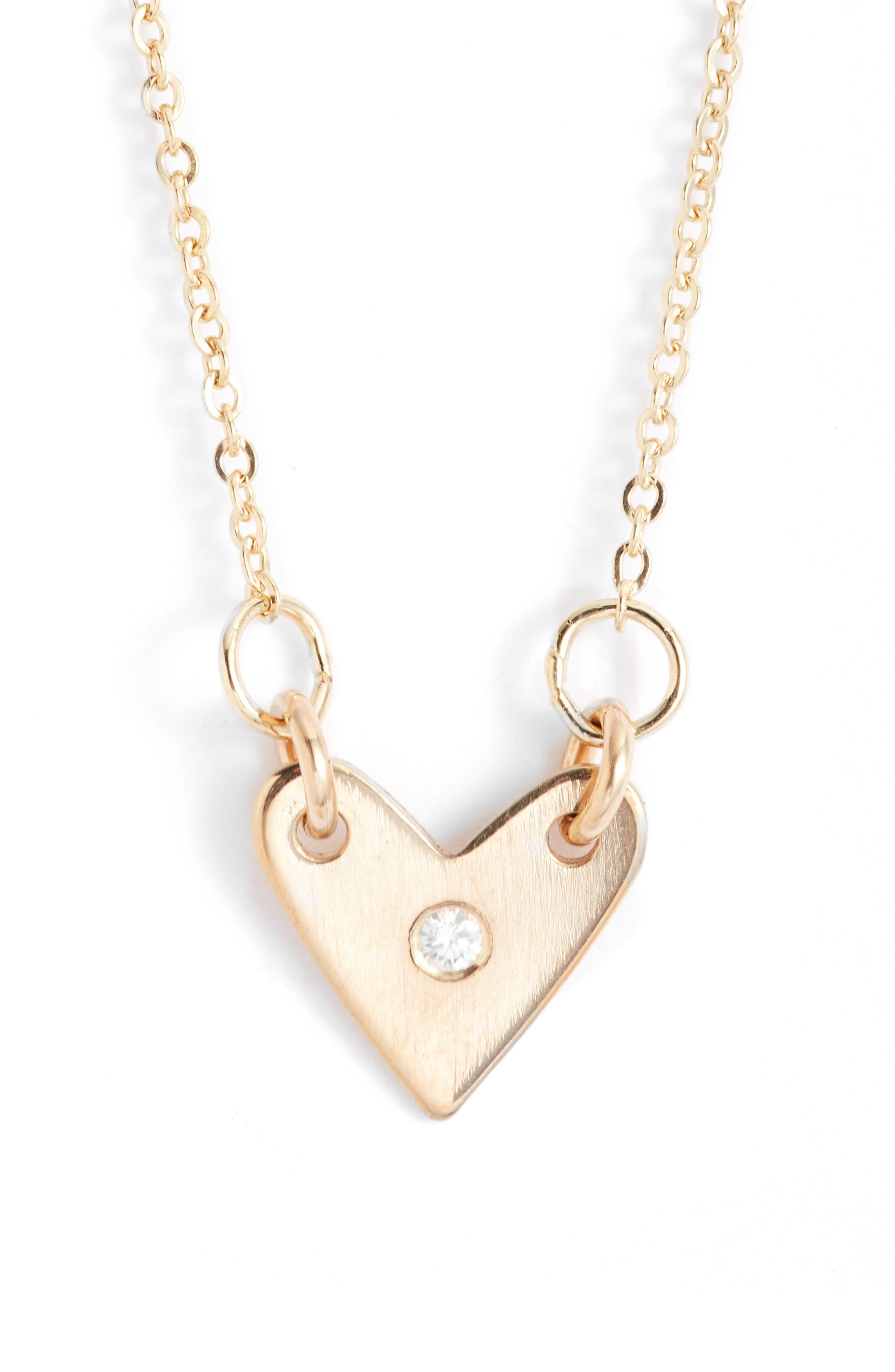 Diamond Heart Necklace,                             Main thumbnail 2, color,