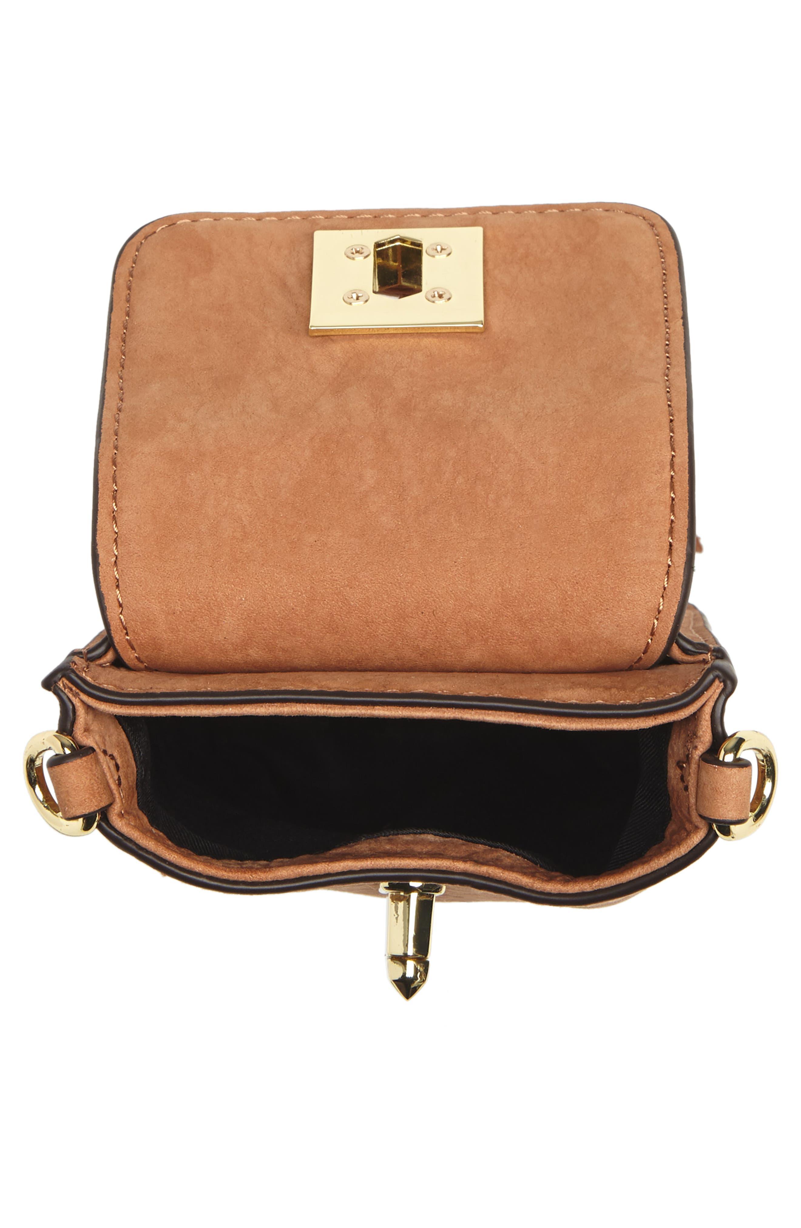 Darren Leather Phone Crossbody Bag,                             Alternate thumbnail 4, color,                             230