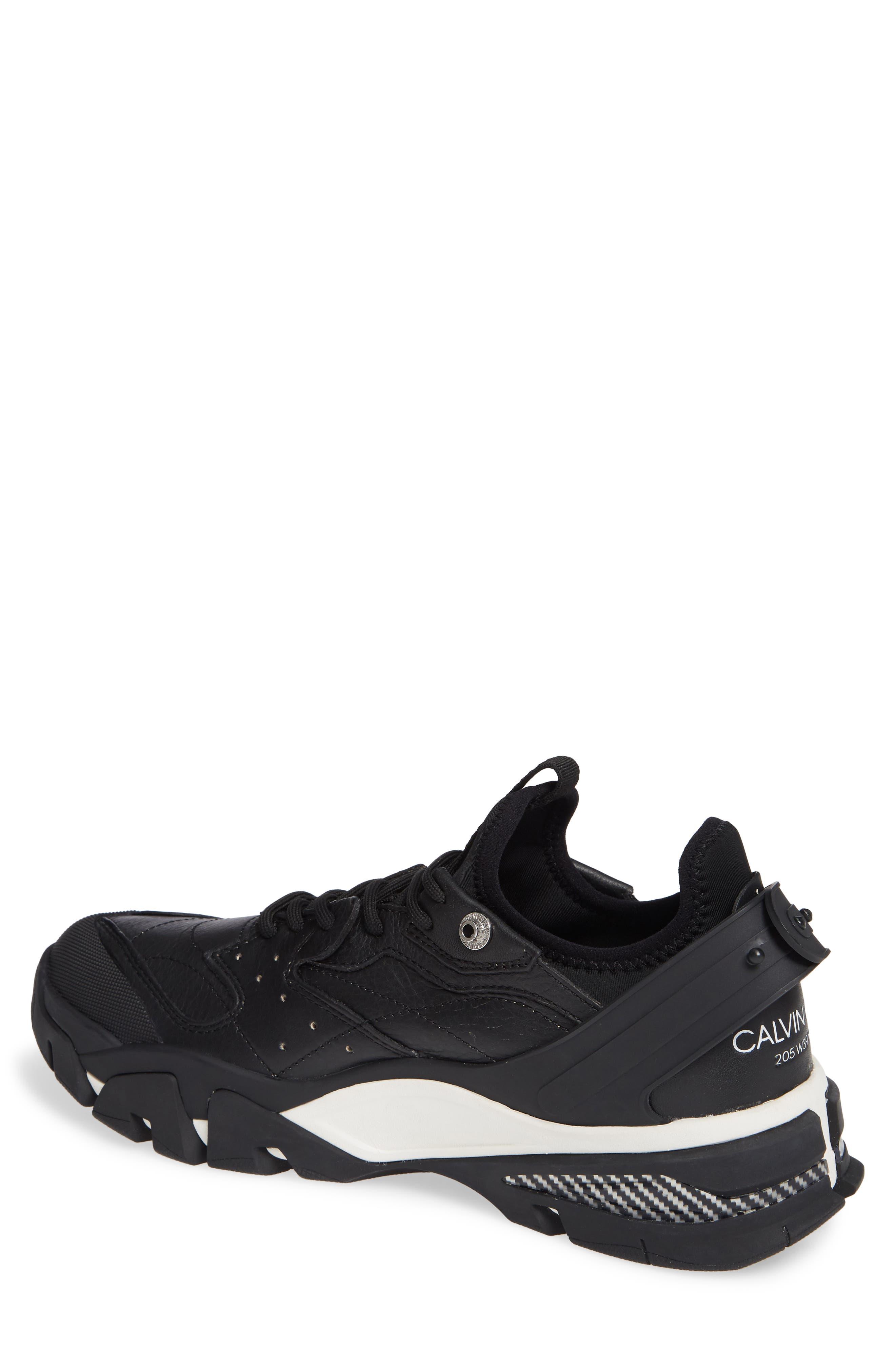 Carlos 10 Snapback Runner Sneaker,                             Alternate thumbnail 2, color,                             BLACK/ WHITE