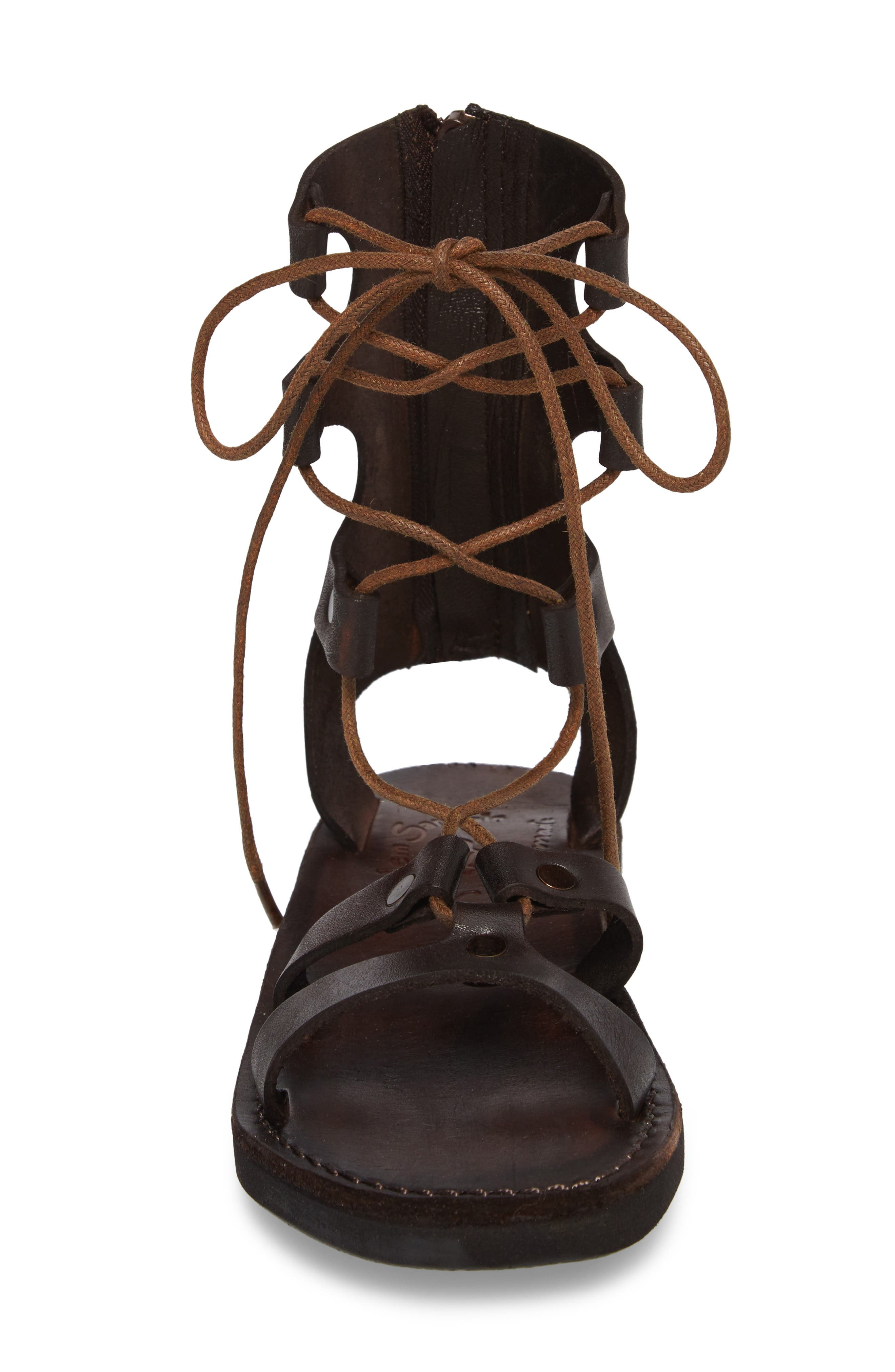 Rebecca Sandal,                             Alternate thumbnail 4, color,                             BROWN LEATHER