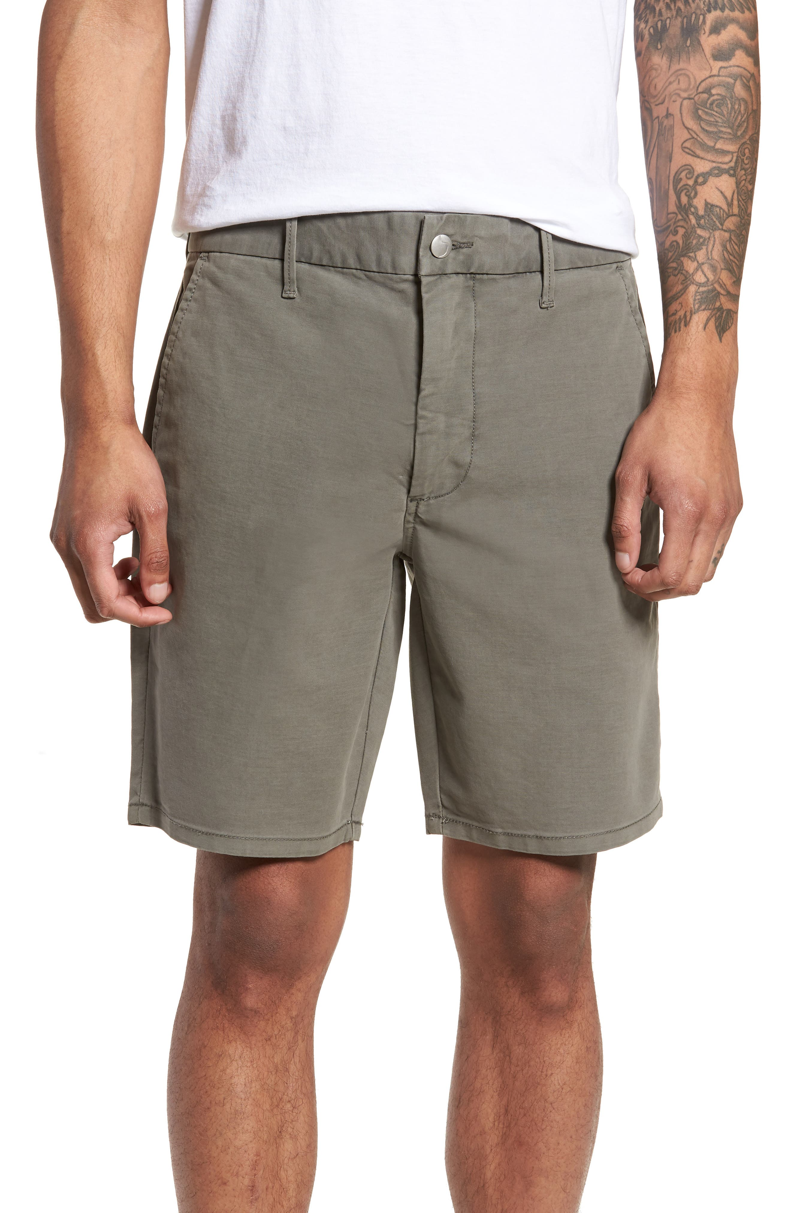 Brixton Trim Fit Straight Leg Shorts,                             Main thumbnail 1, color,                             020
