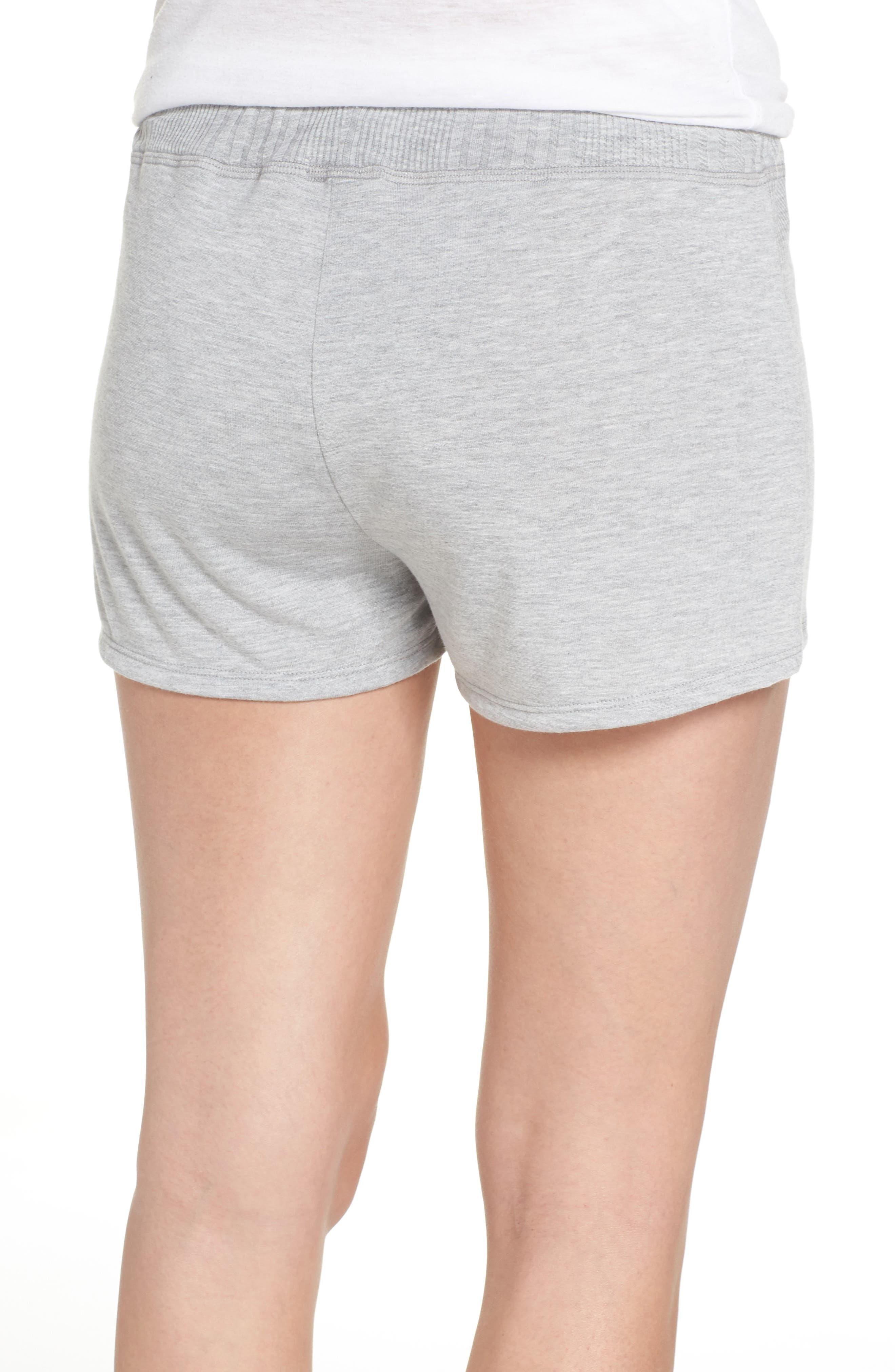 Pajama Shorts,                             Alternate thumbnail 2, color,                             LIGHT HEATHER GREY