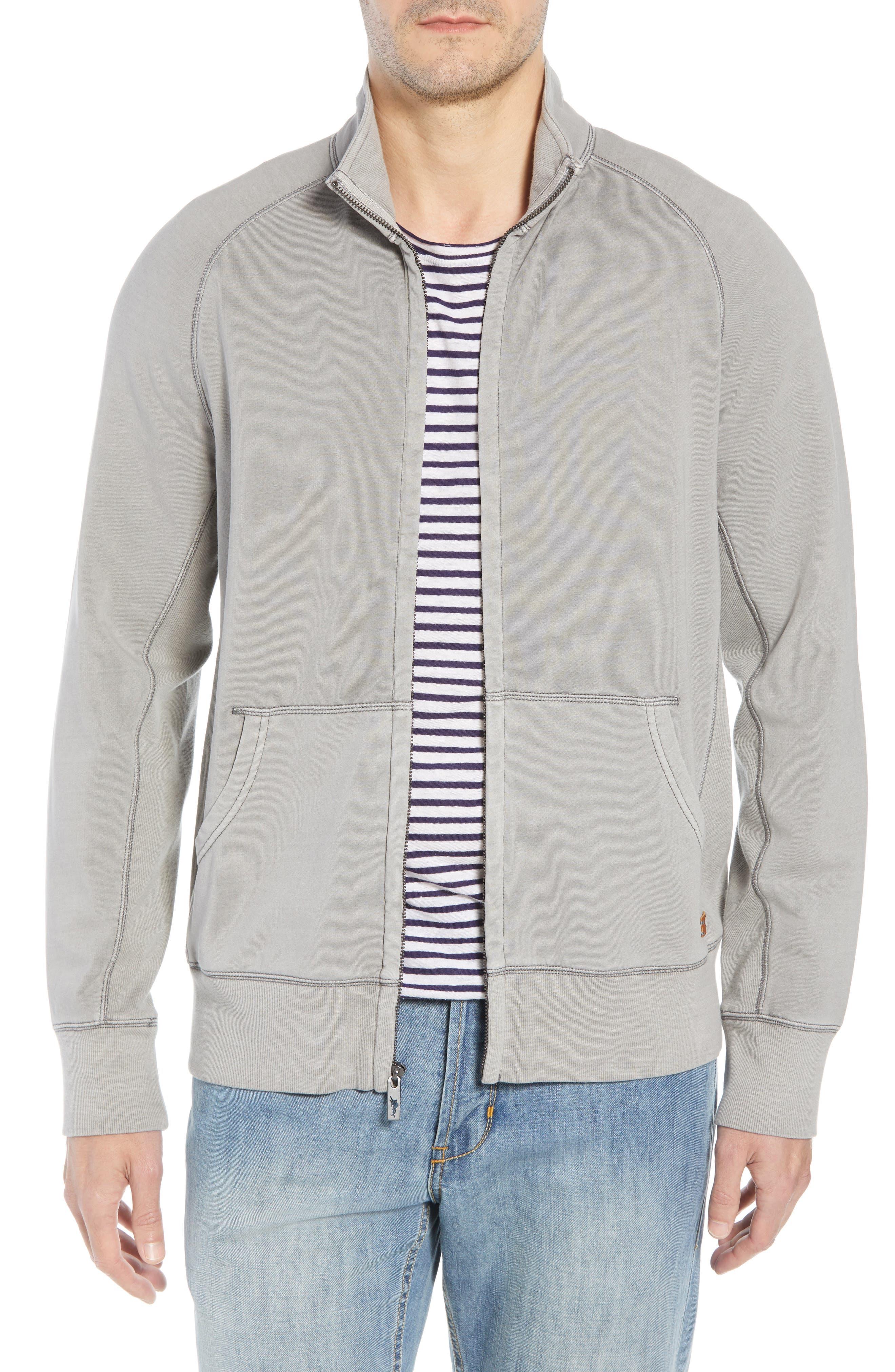 Coast Mock Neck Full Zip Sweatshirt,                         Main,                         color, TYPE WRITER