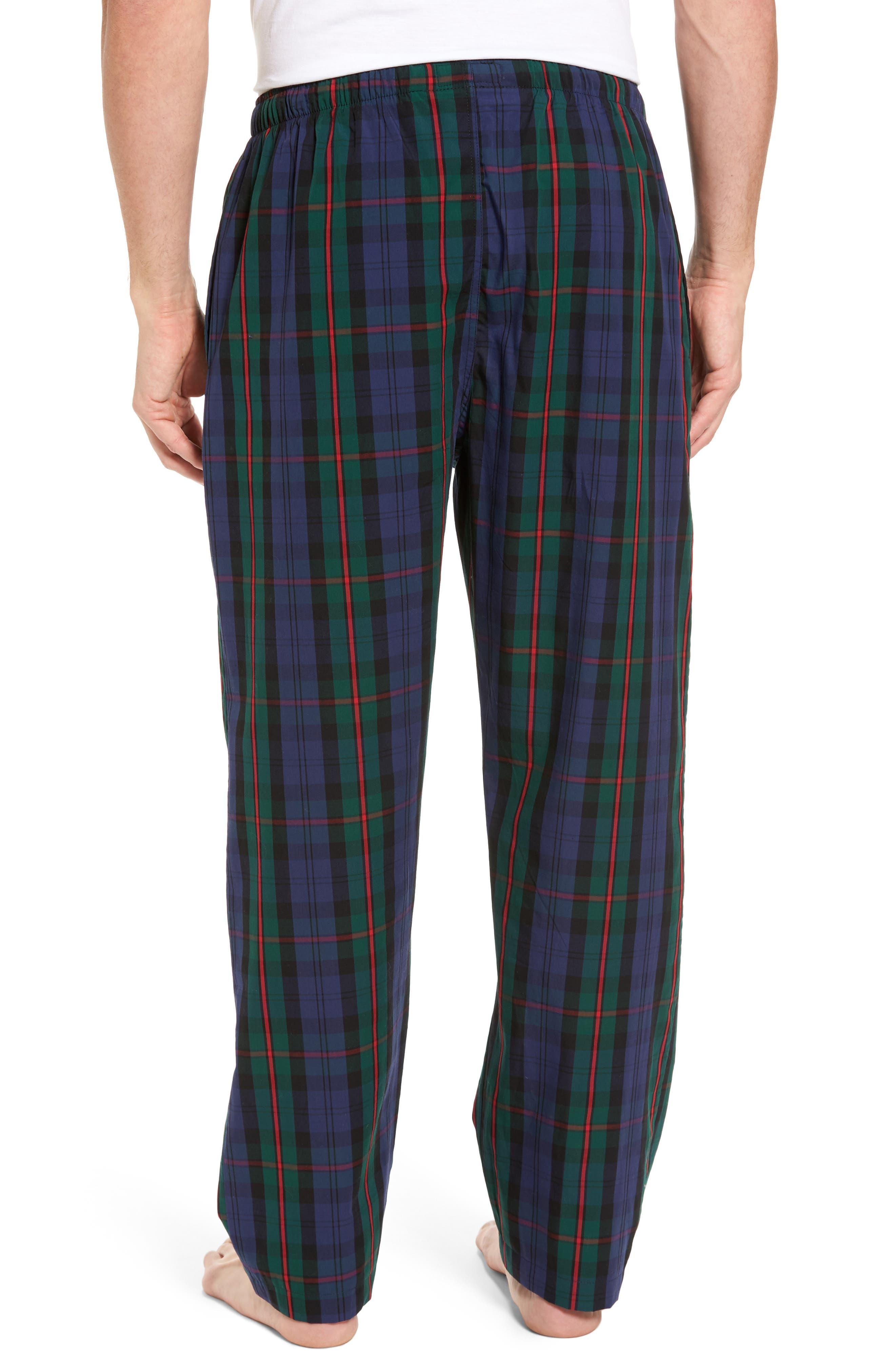 Plaid Cotton Lounge Pants,                             Alternate thumbnail 2, color,                             409