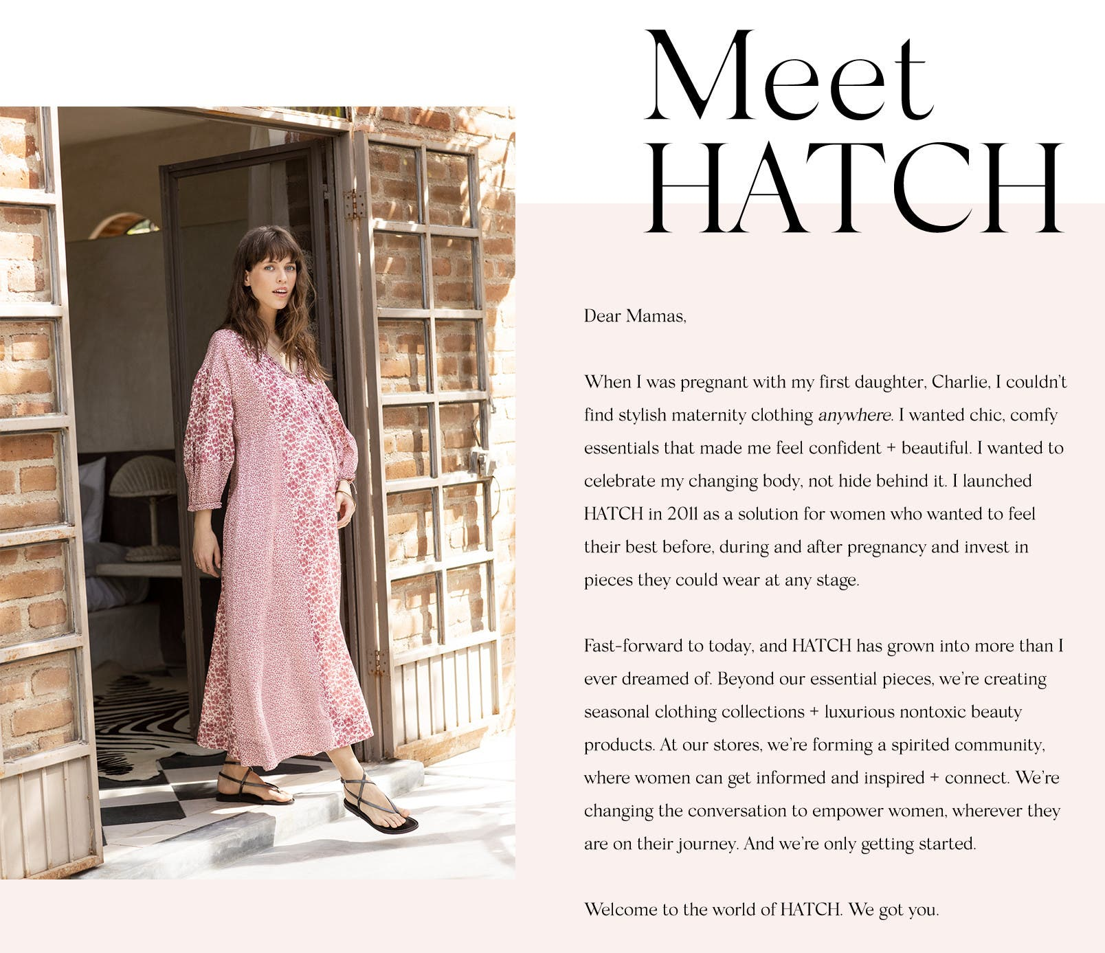 a3ceccc6e2a HATCH clothing is made with moms in mind. Incredibly flattering and  thoughtfully created to accommodate every trimester and life with little  ones