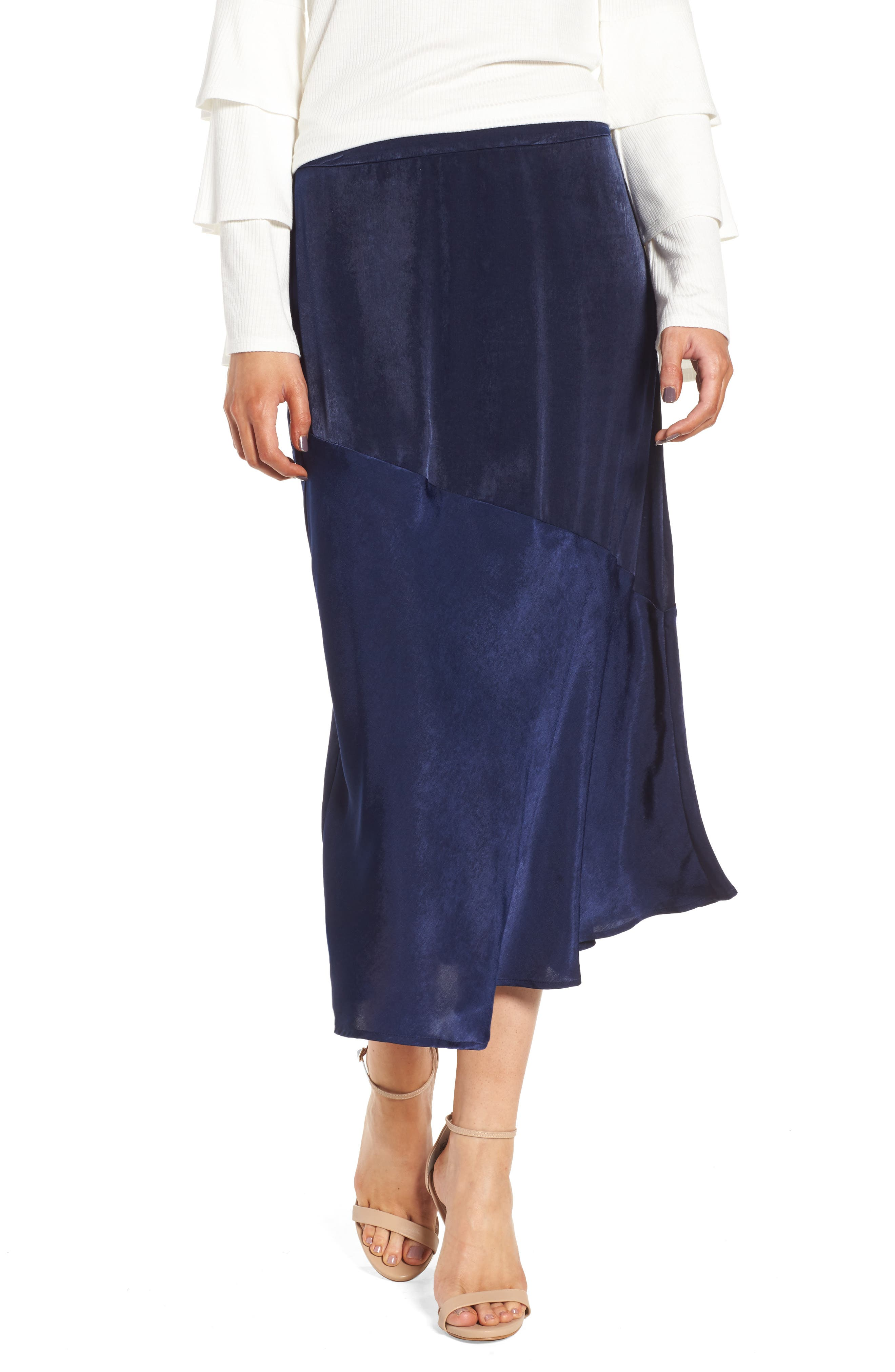 BP Satin Midi Skirt,                         Main,                         color, 410