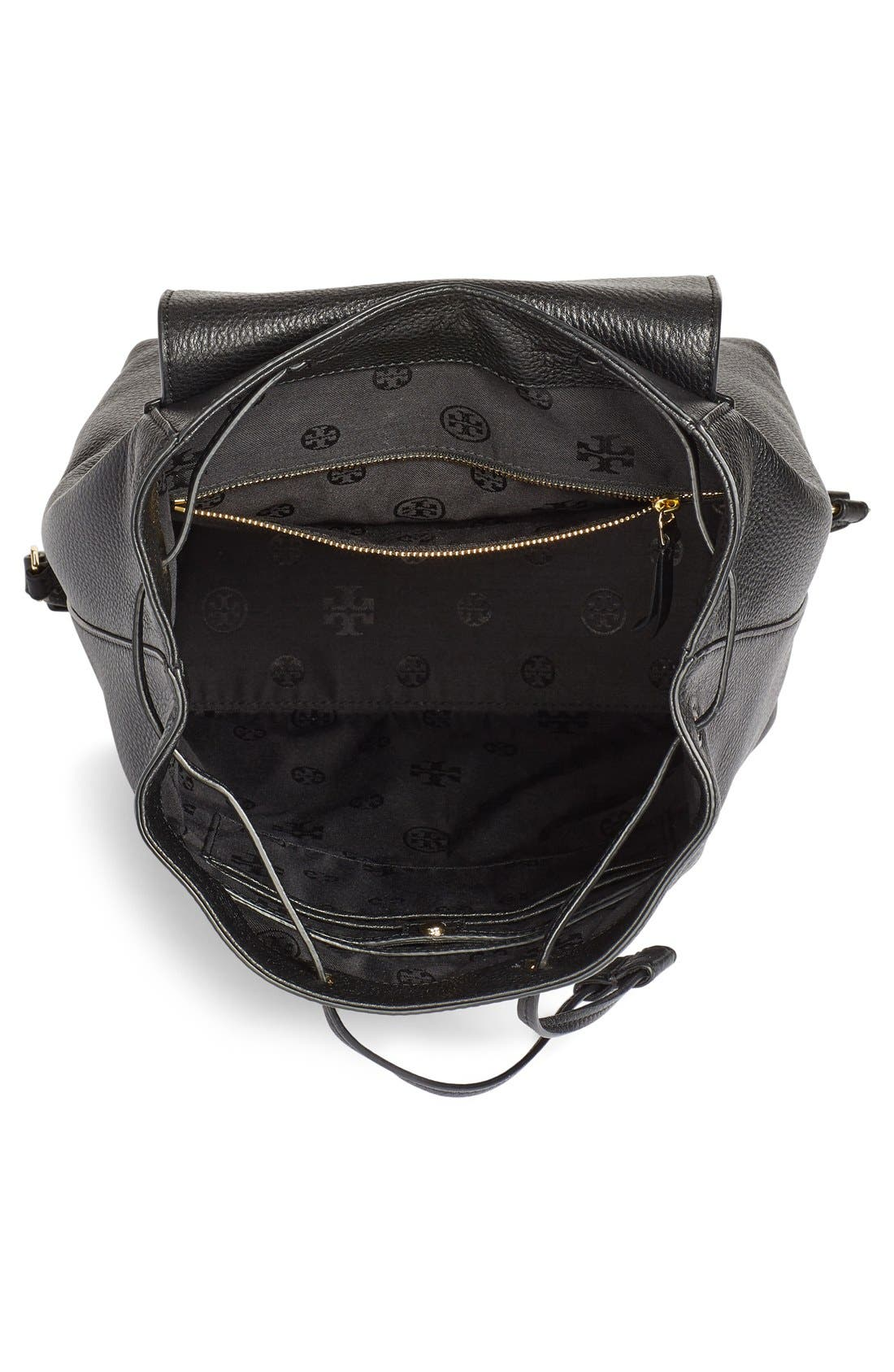 TORY BURCH,                             'Harper' Leather Backpack,                             Alternate thumbnail 4, color,                             012