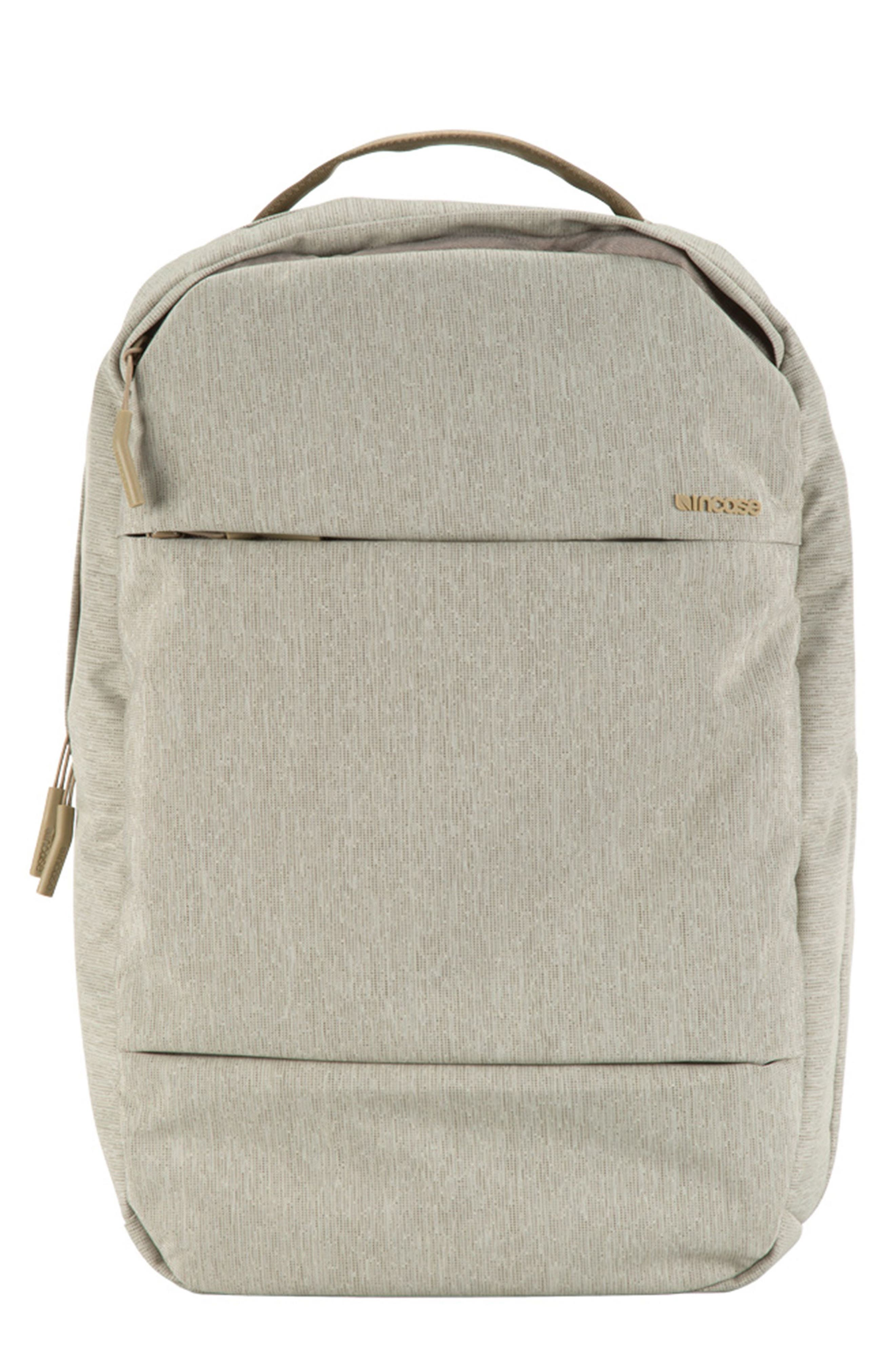 City Compact Backpack,                         Main,                         color, HEATHER KHAKI