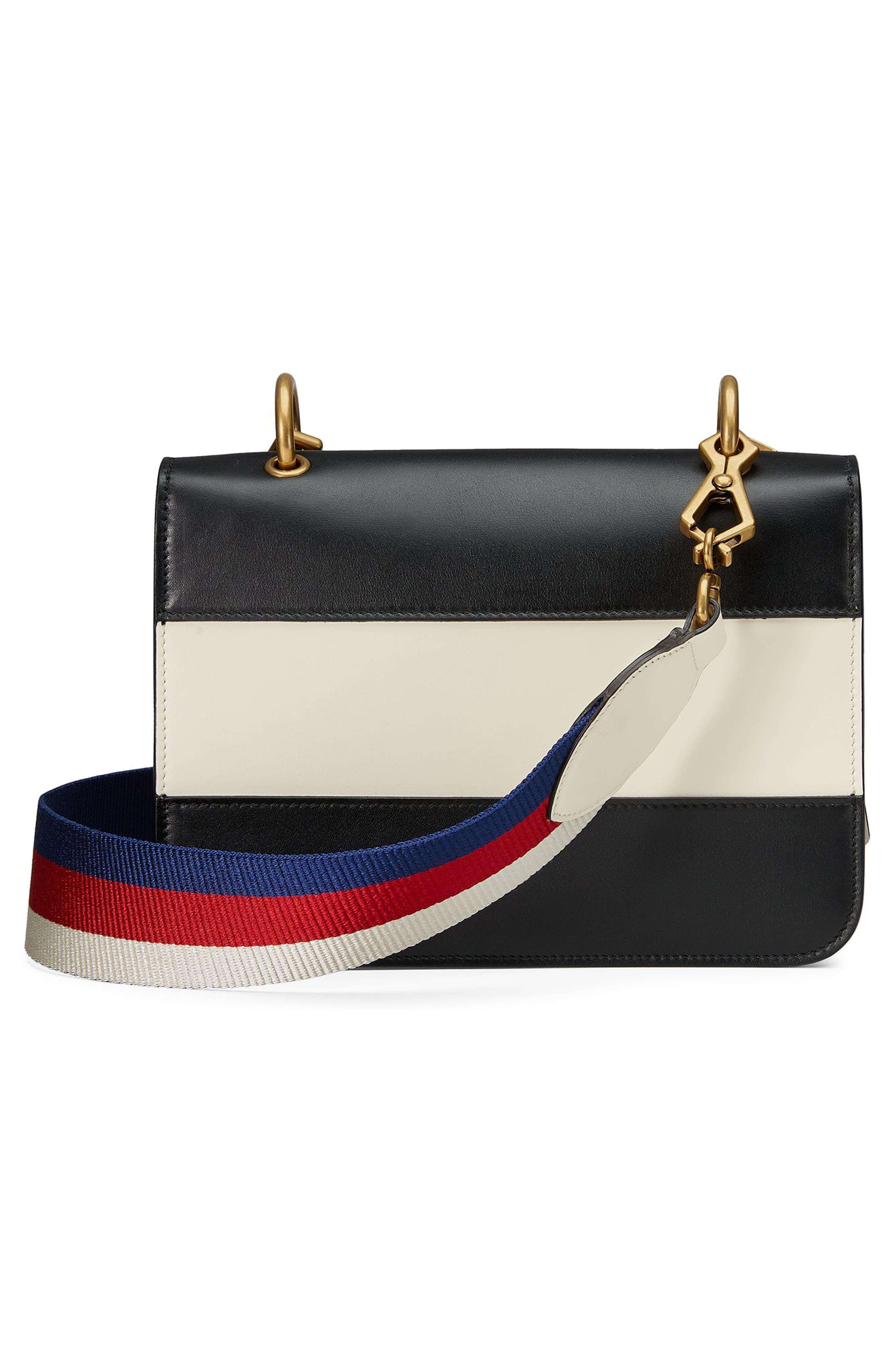 Queen Margaret Stripe Leather Shoulder Bag,                             Alternate thumbnail 2, color,