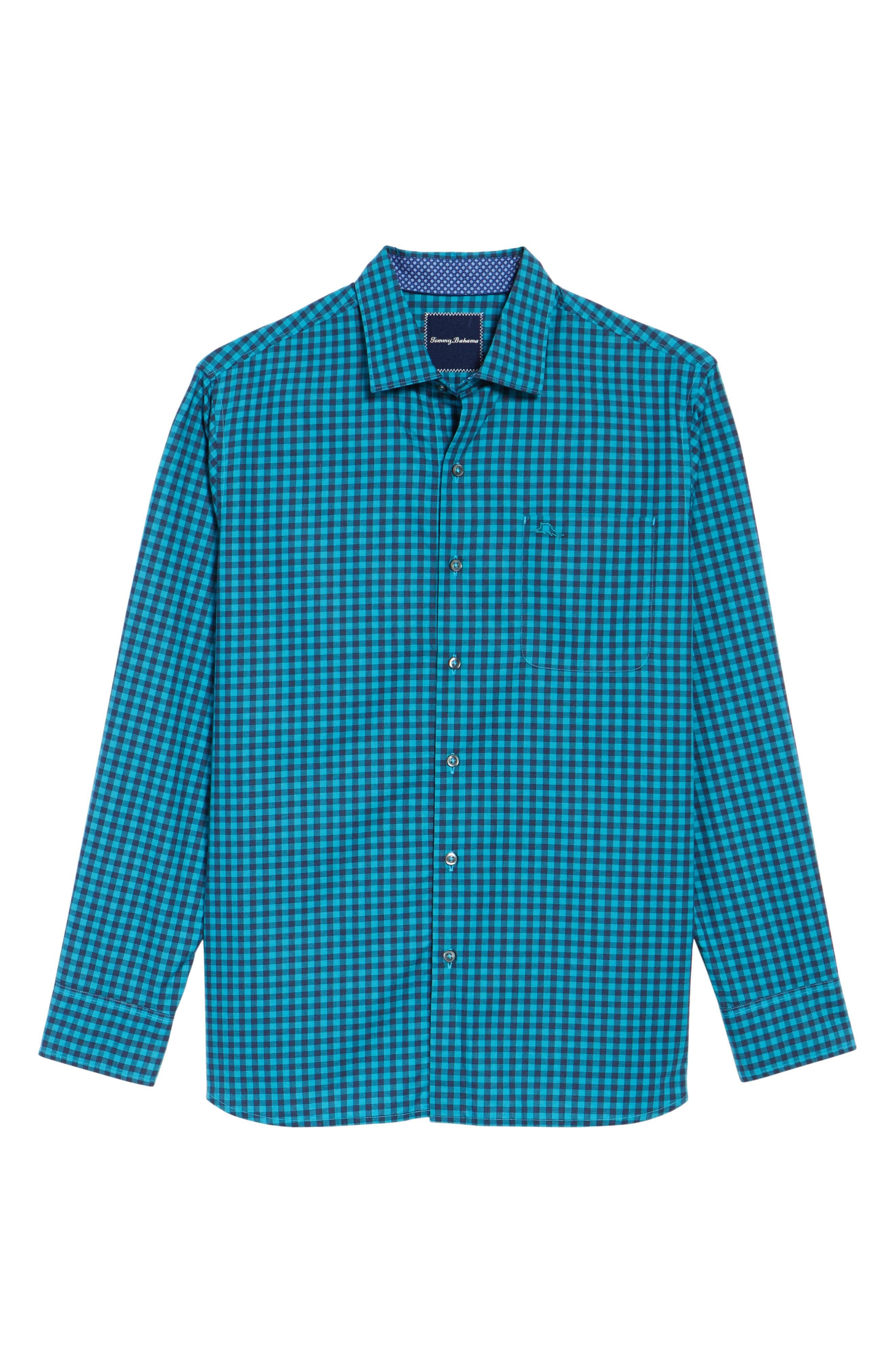 Mazagan Check Sport Shirt,                             Alternate thumbnail 6, color,                             401