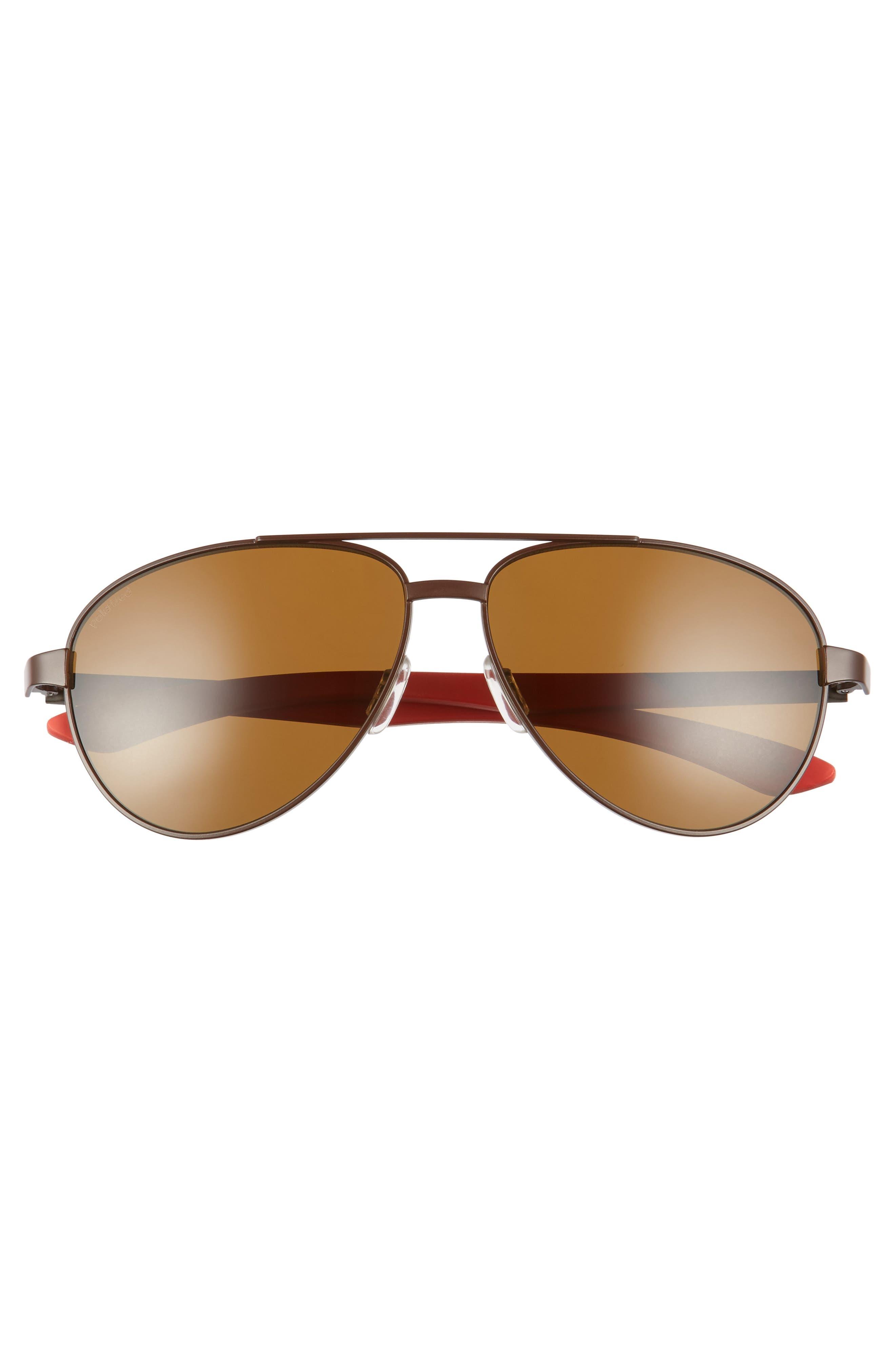 Salute 59mm Polarized Aviator Sunglasses,                             Alternate thumbnail 3, color,                             200