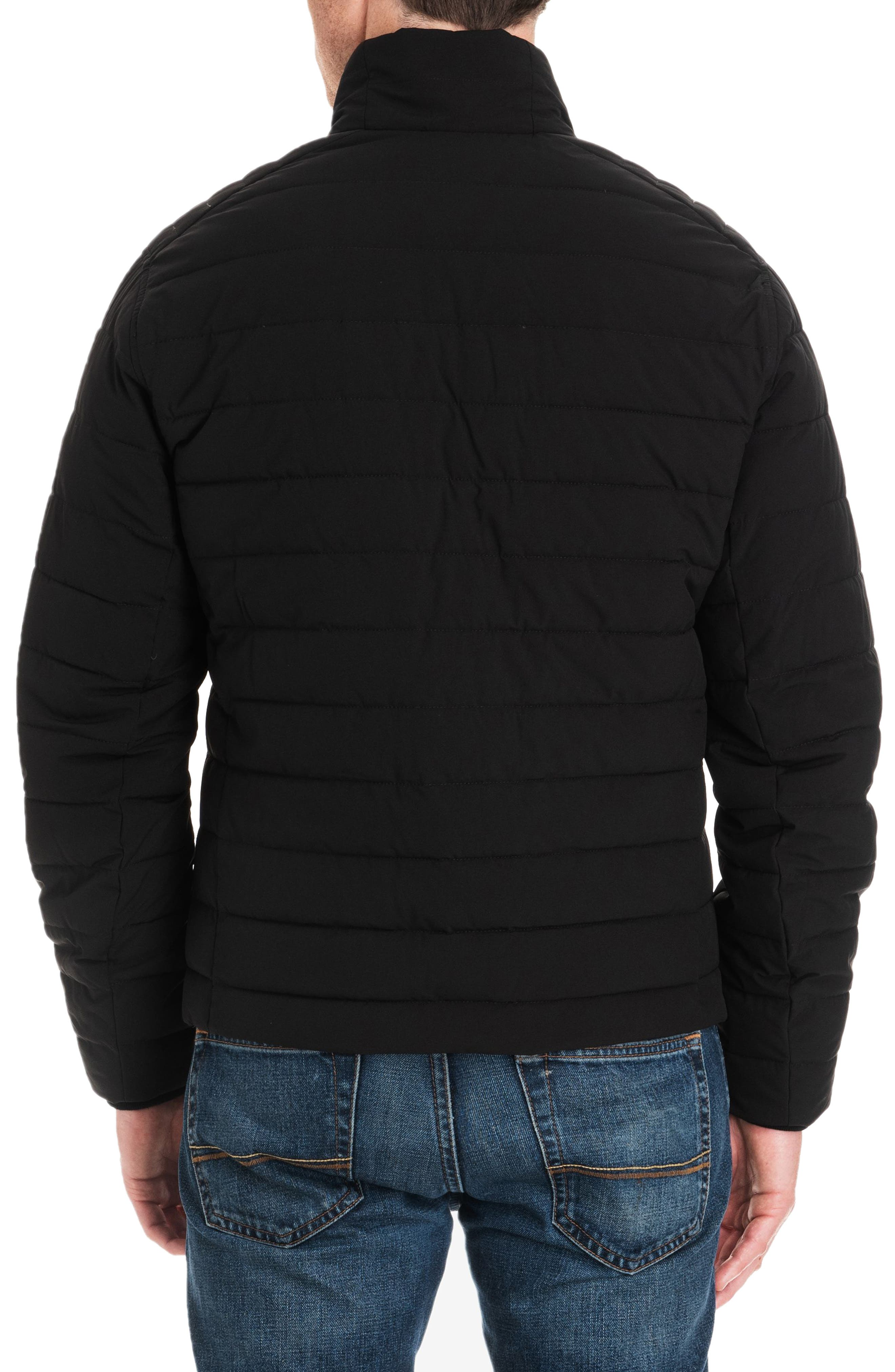 Fulton Quilted Jacket,                             Alternate thumbnail 2, color,                             BLACK/ MIDNIGHT