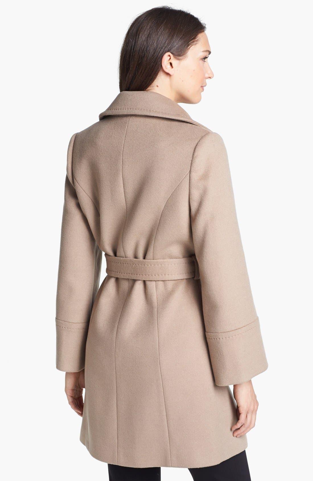 'Chelsea' Wool Blend Wrap Coat,                             Alternate thumbnail 3, color,                             263