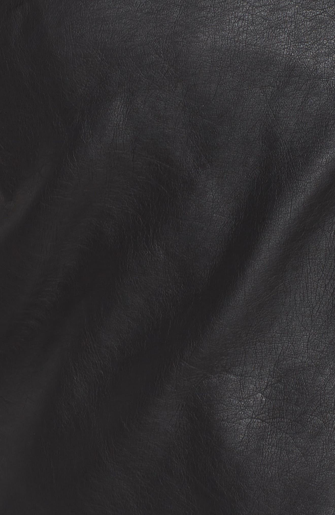 Karisa Faux Leather Moto Jacket,                             Alternate thumbnail 6, color,                             002