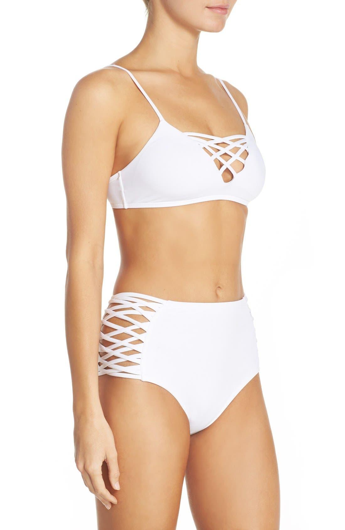 Tigress Classic High Waist Bikini Bottoms,                             Alternate thumbnail 8, color,