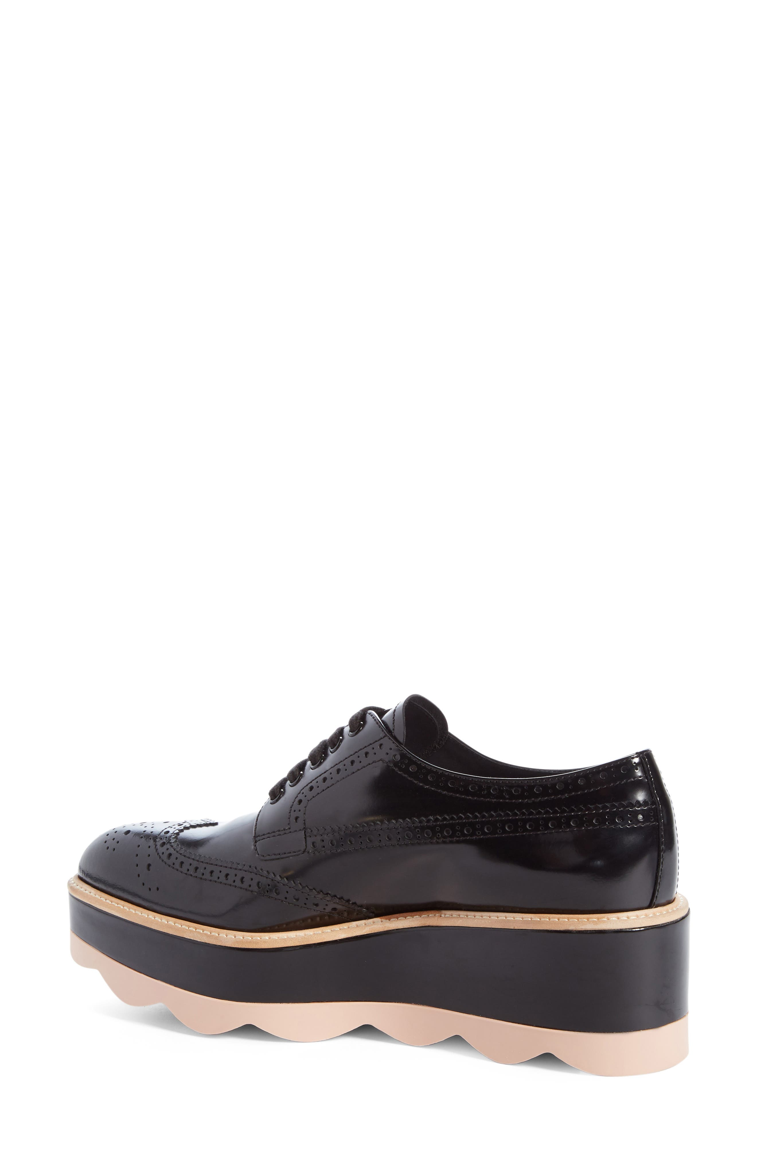 Scalloped Platform Oxford,                             Alternate thumbnail 8, color,