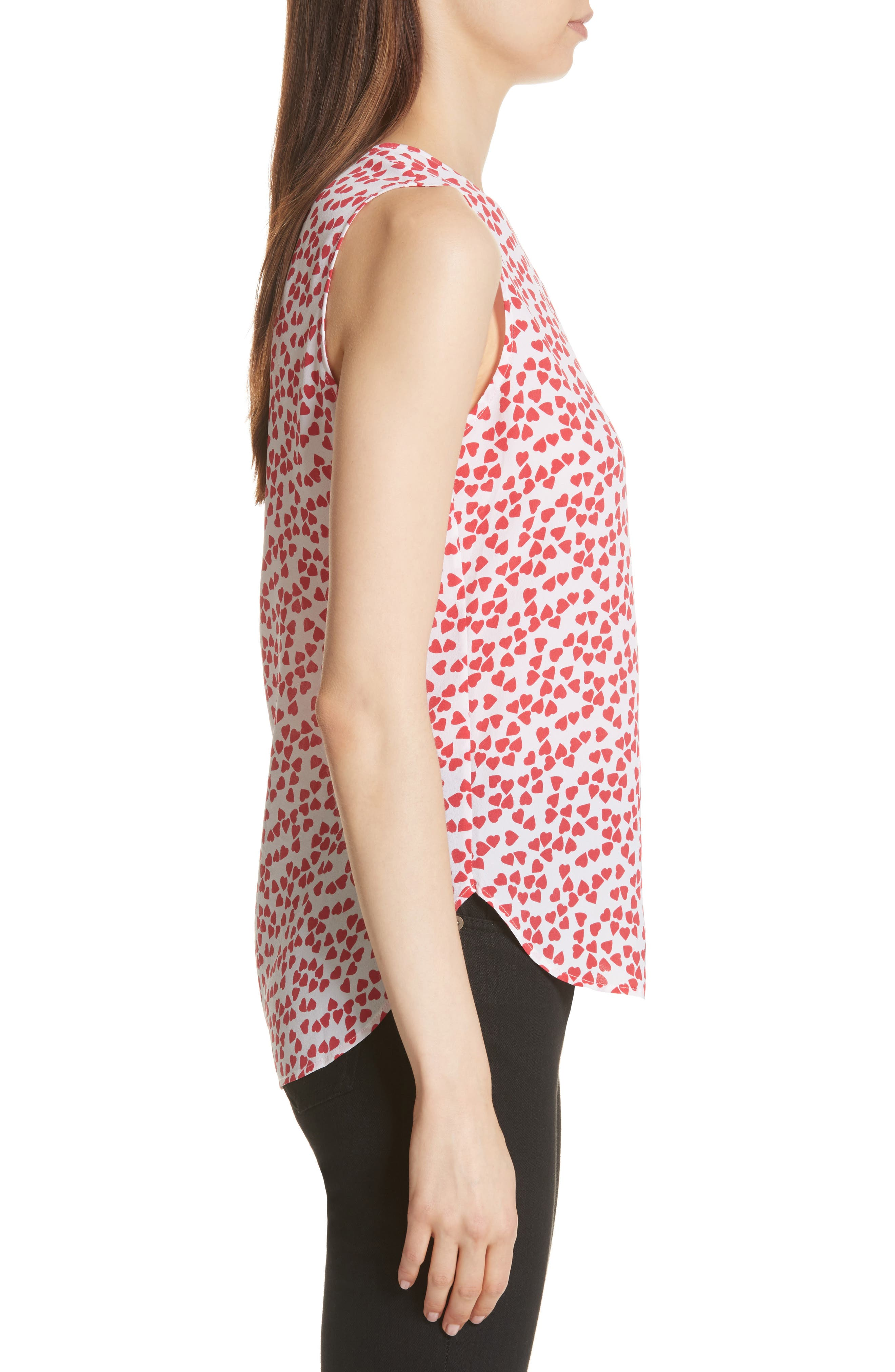 Lyle Print Silk Sleeveless Top,                             Alternate thumbnail 3, color,
