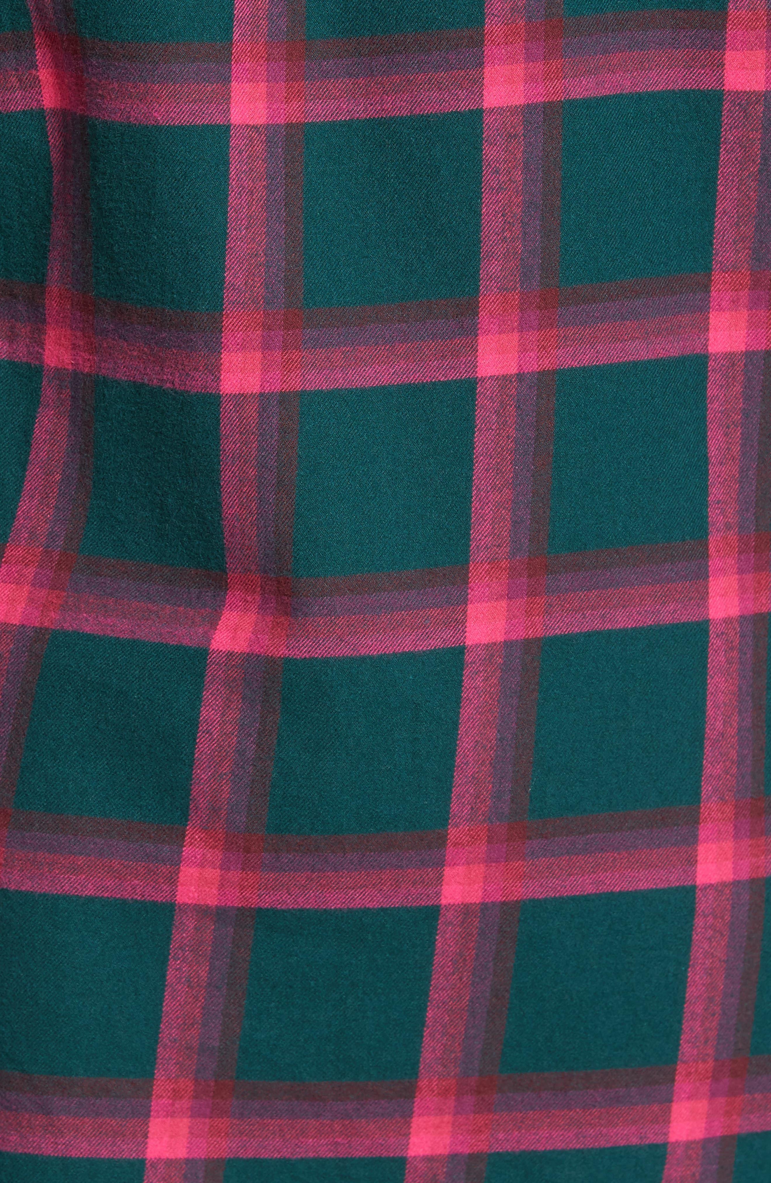 Slim Fit Brushed Windowpane Sport Shirt,                             Alternate thumbnail 5, color,                             300