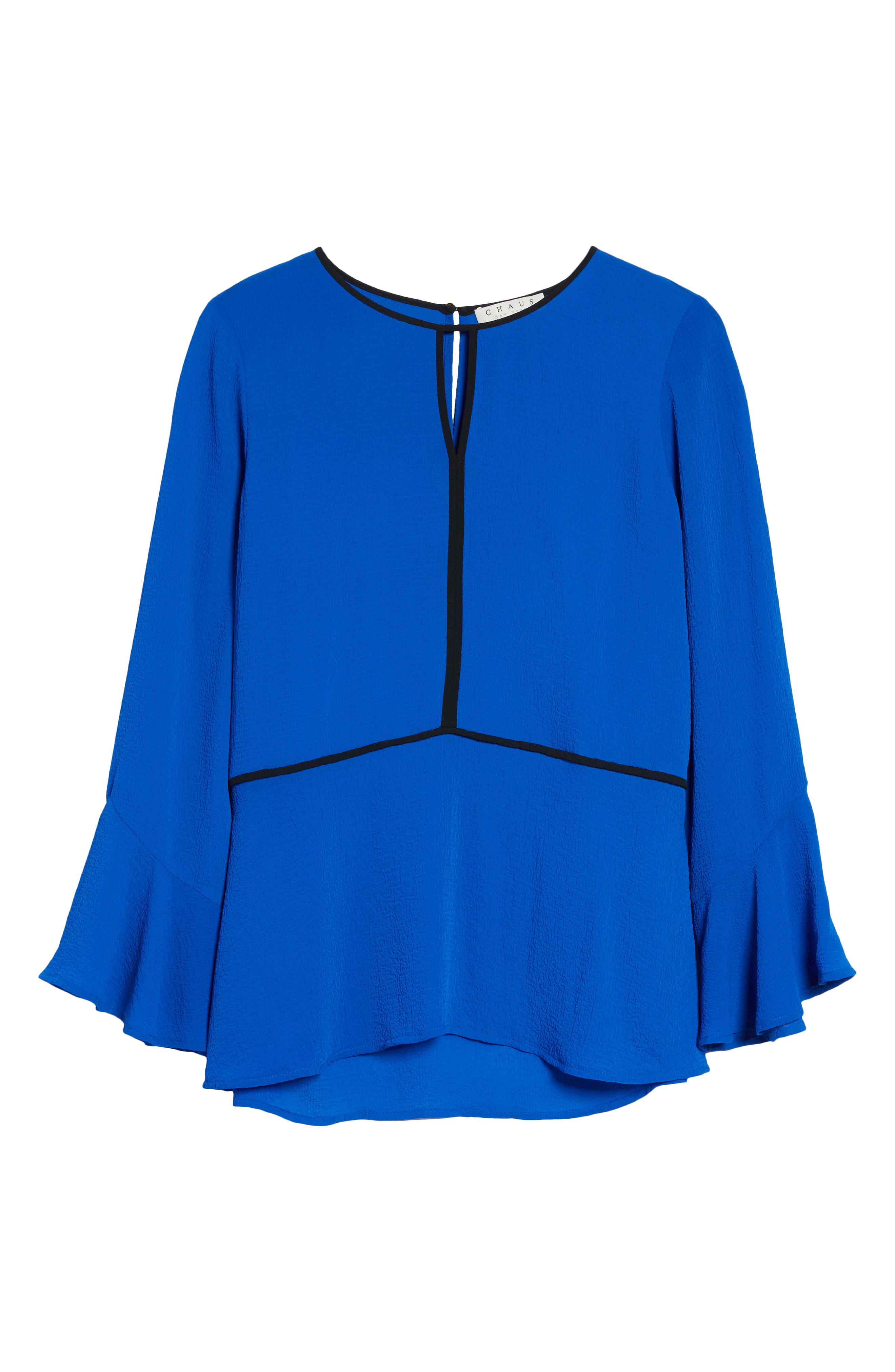 Flare Sleeve Crepe Blouse,                             Alternate thumbnail 6, color,                             421