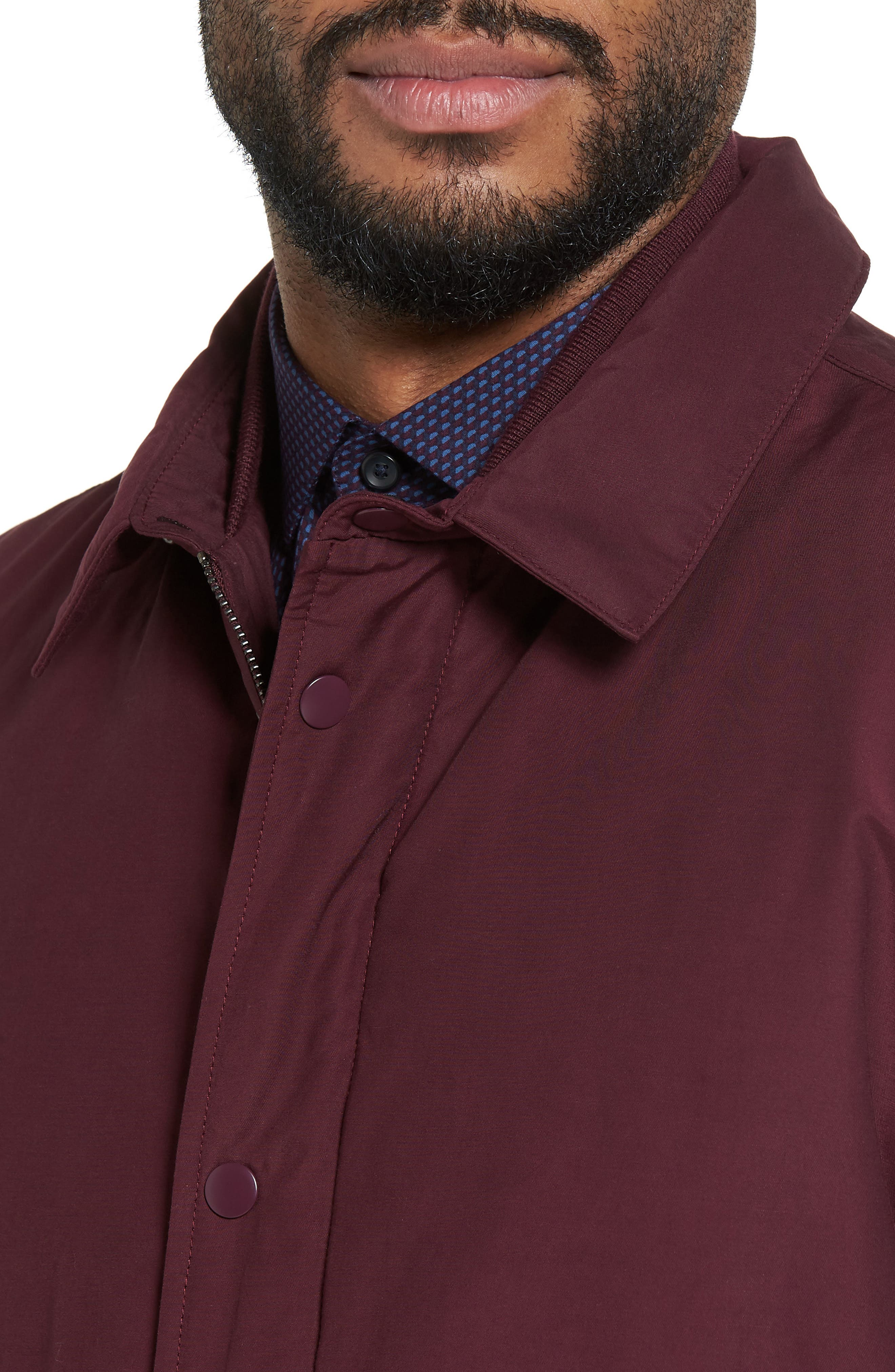 Collared Bomber Jacket,                             Alternate thumbnail 8, color,