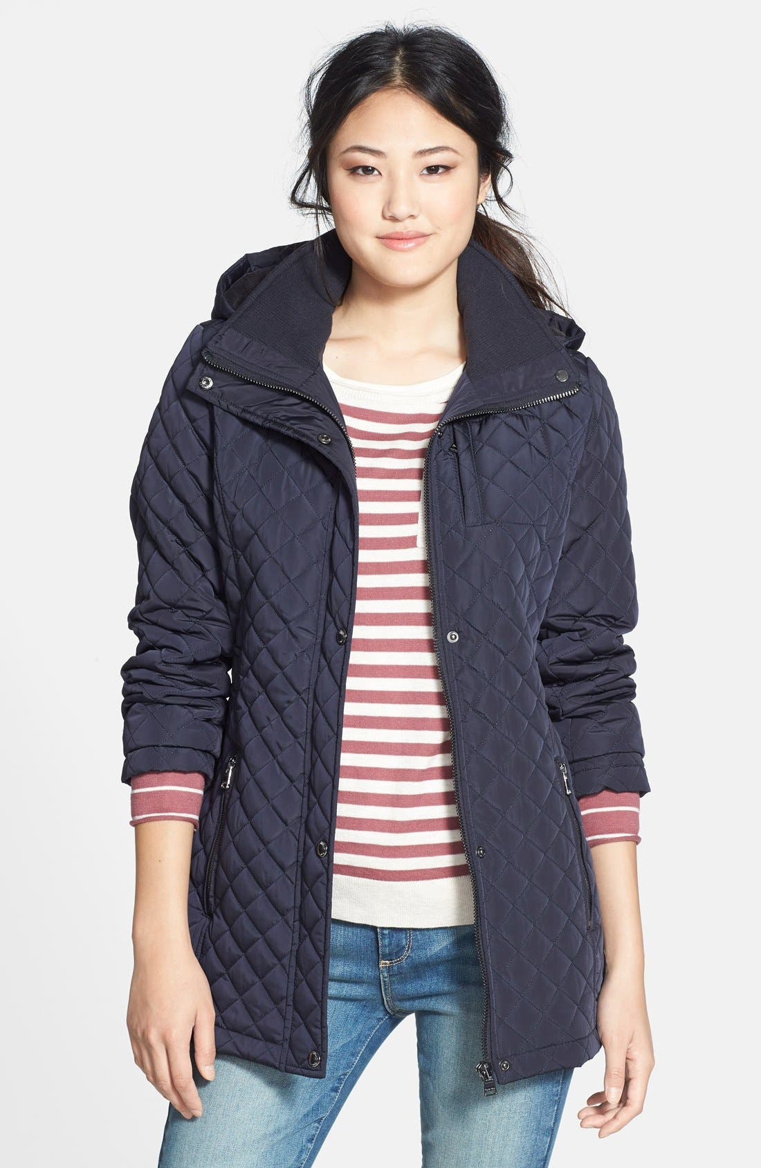 Hooded Quilted Jacket,                             Main thumbnail 6, color,