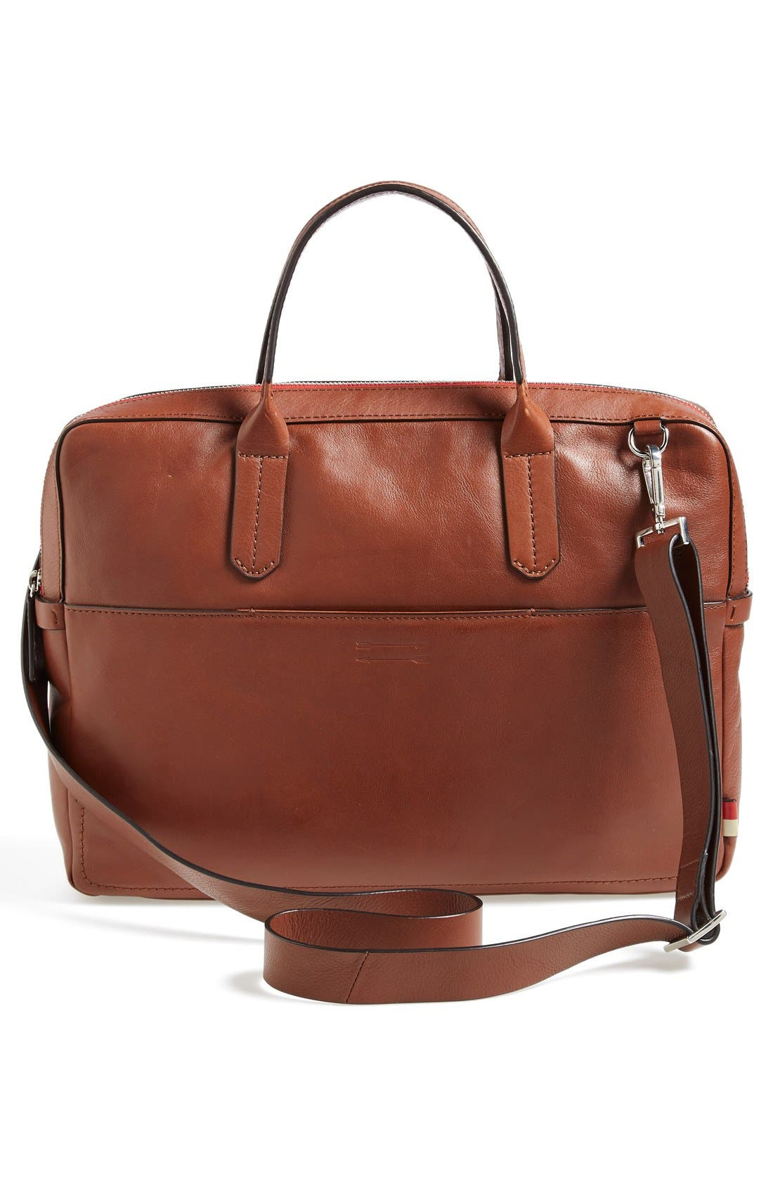 Ben Minkoff 'Fulton' Leather Briefcase,                             Alternate thumbnail 5, color,                             233