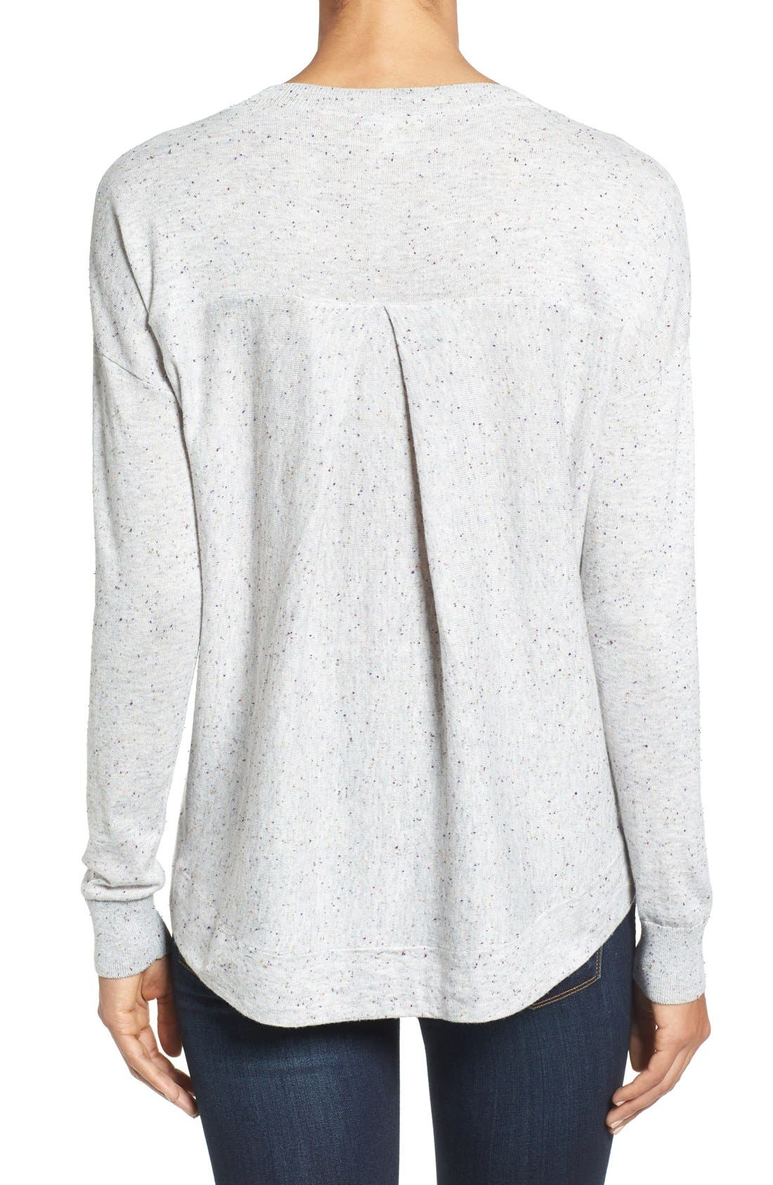 Pleat Back High/Low Crewneck Sweater,                             Alternate thumbnail 31, color,
